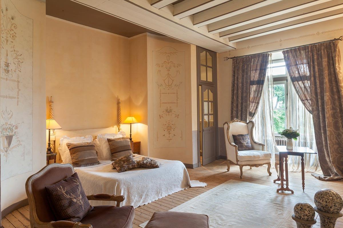 Les chambres au Château de l'Epinay © DR