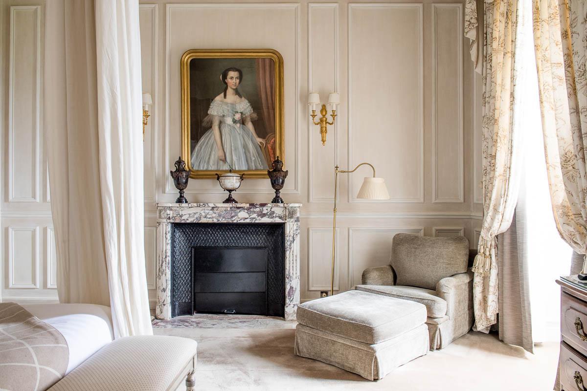 """Chambre Prestige """"Victoria"""" au Domaine Les Crayères © Anne-Emmanuelle Thion"""