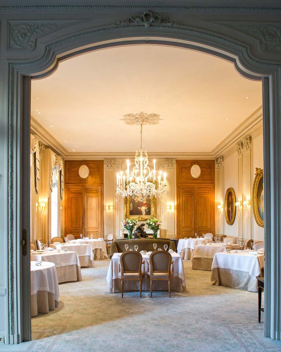 Le restaurant Le Parc, antre gastronomique du chef 2-étoiles Michelin Philippe Mille © Anne-Emmanuelle Thion