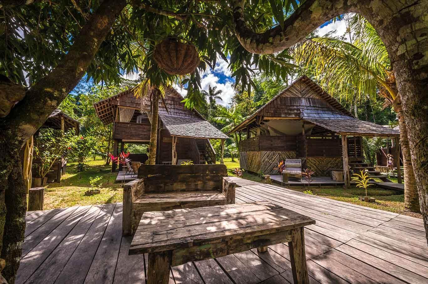 Le Wapa Lodge au milieu de la forêt amazonienne © Aurélien Brusini