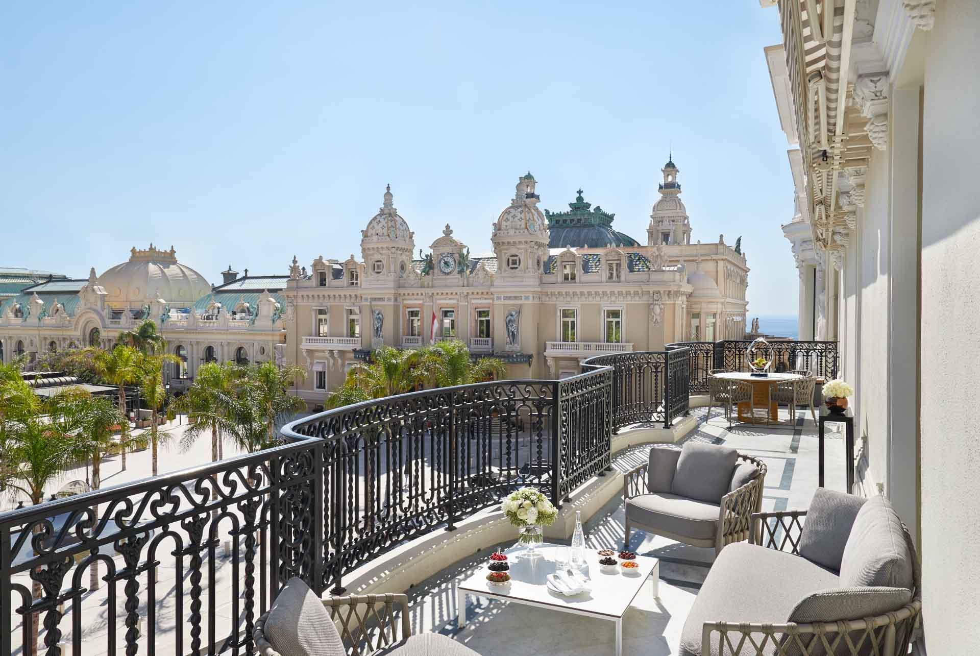 Vue depuis la Diamond Suite Garnier de l'Hôtel de Paris © MONTE-CARLO Société des Bains de Mer