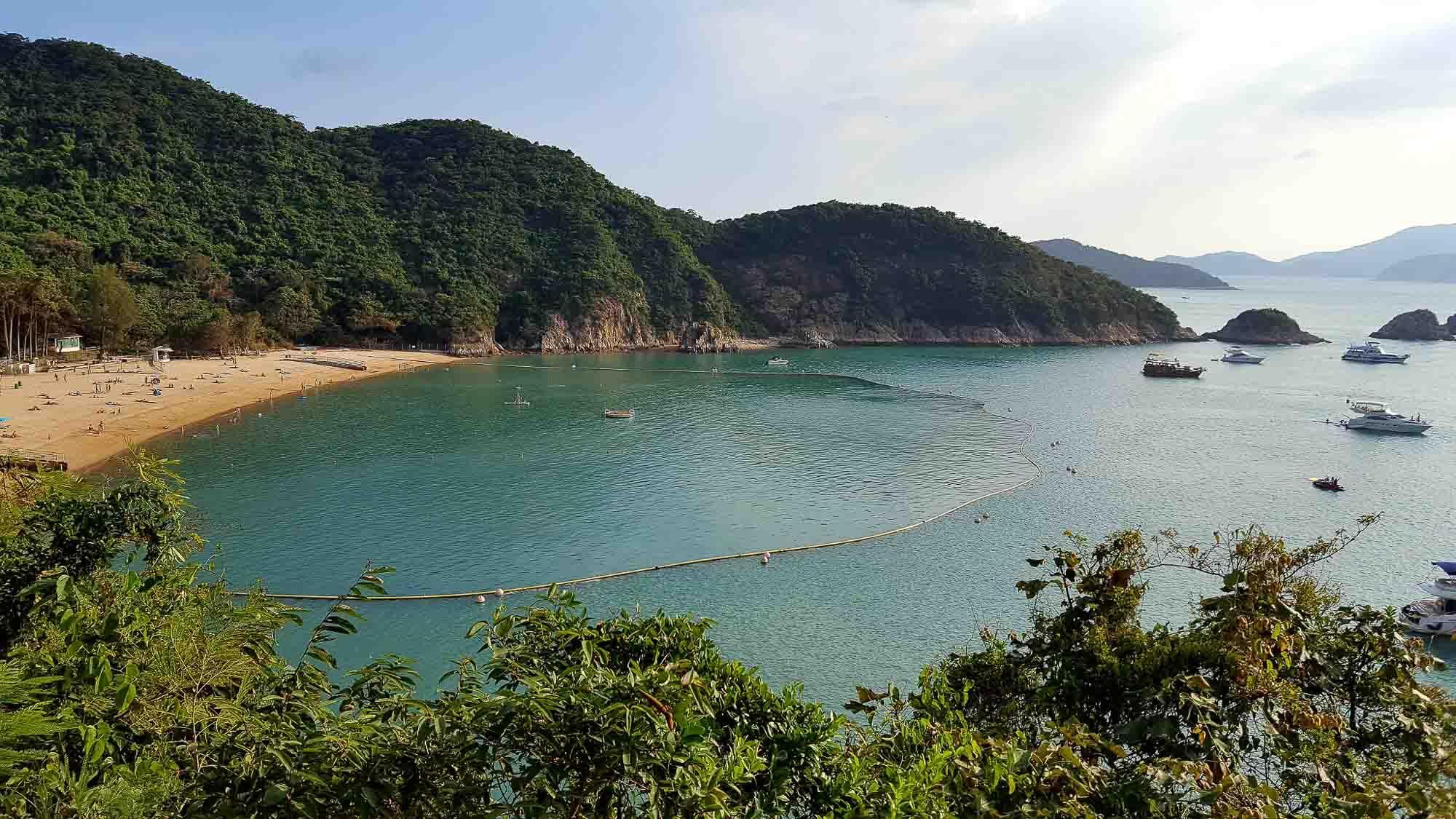 La plage de South Bay, une oasis de calme à Hong Kong © Christophe Mégueulle