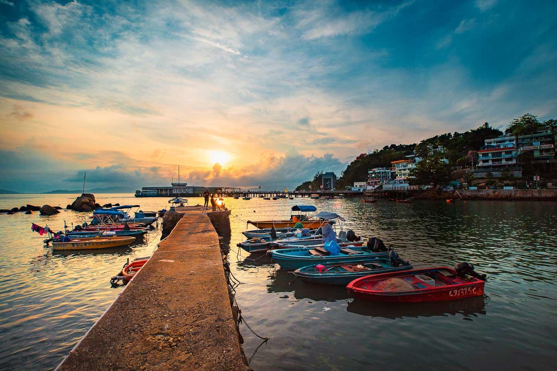 La petite ville de Yung Shue Wan sur l'île de Lamma © SCMP
