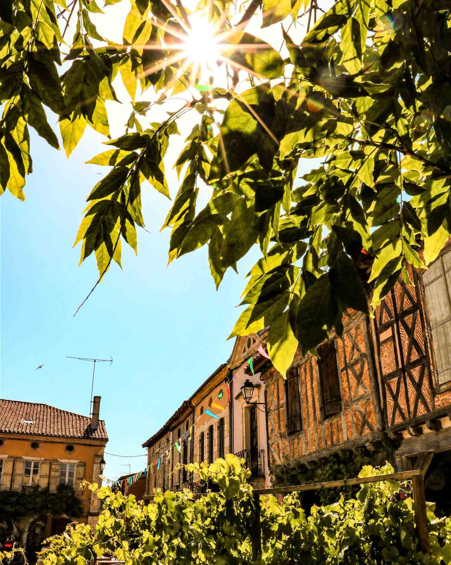La place royale de Labastide d'Armagnac