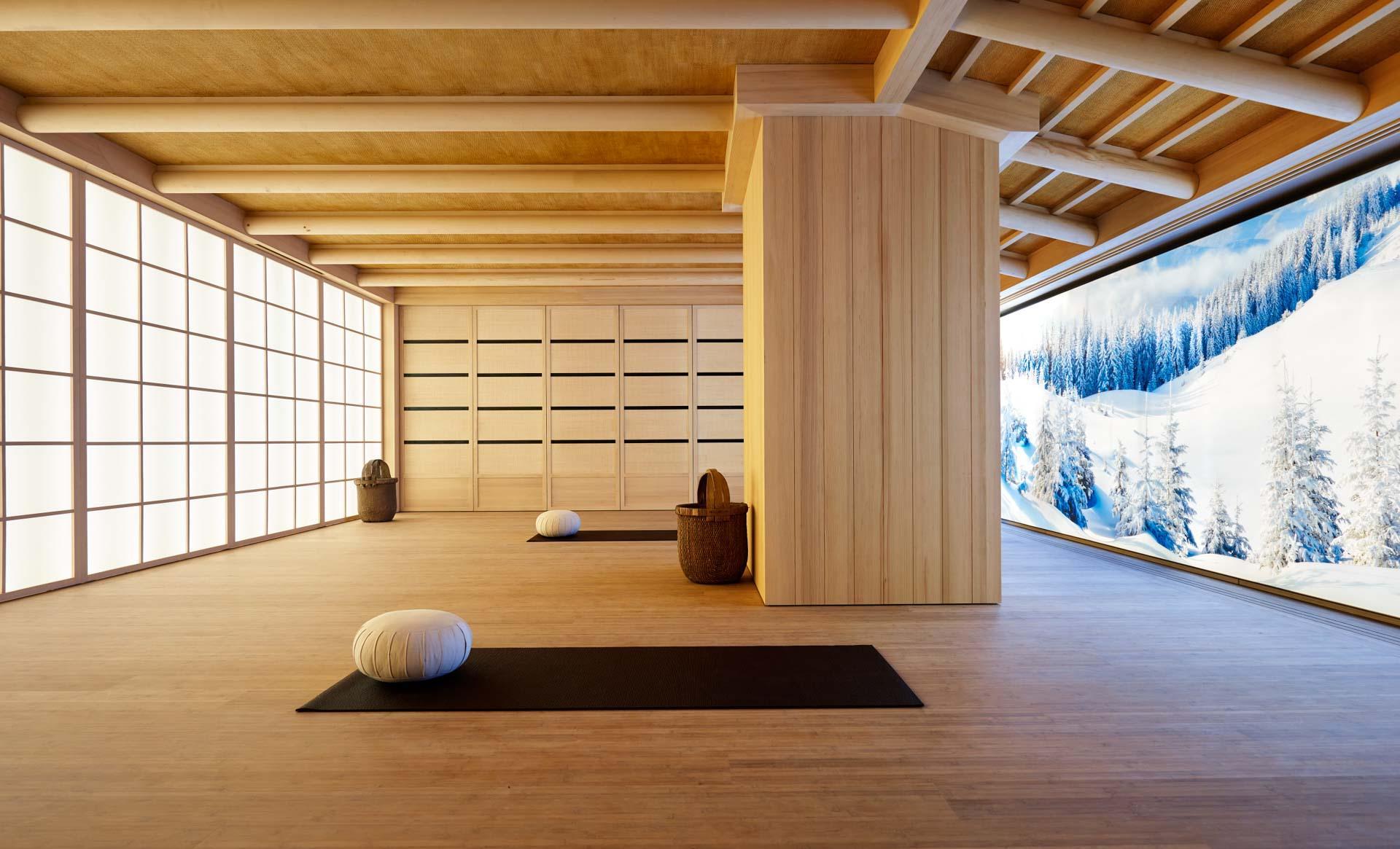 Pause au studio de yoga du Mélezin Courchevel © DR