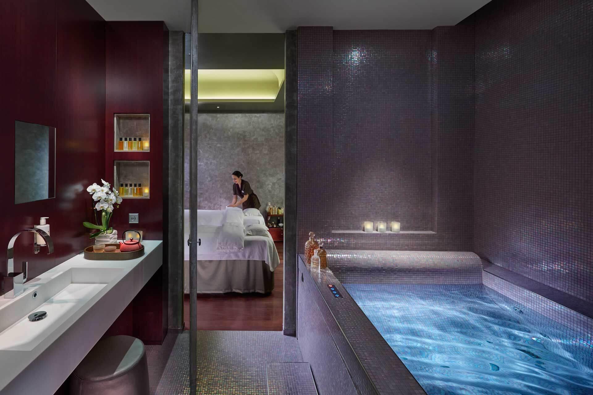 Une cabine de soin au Mandarin Oriental © DR