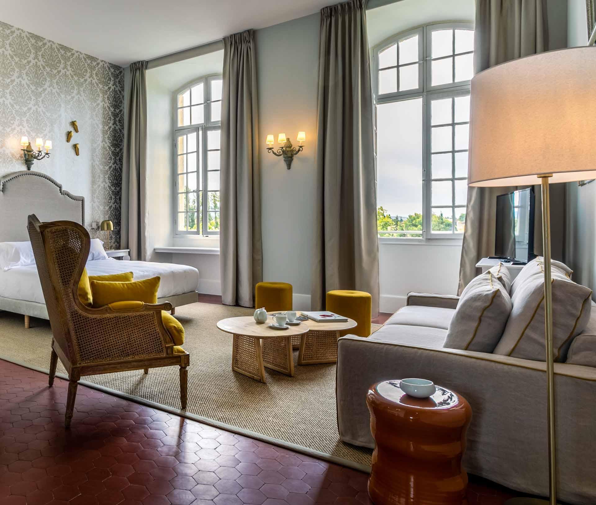 Chambre au Château de Mazan © DR