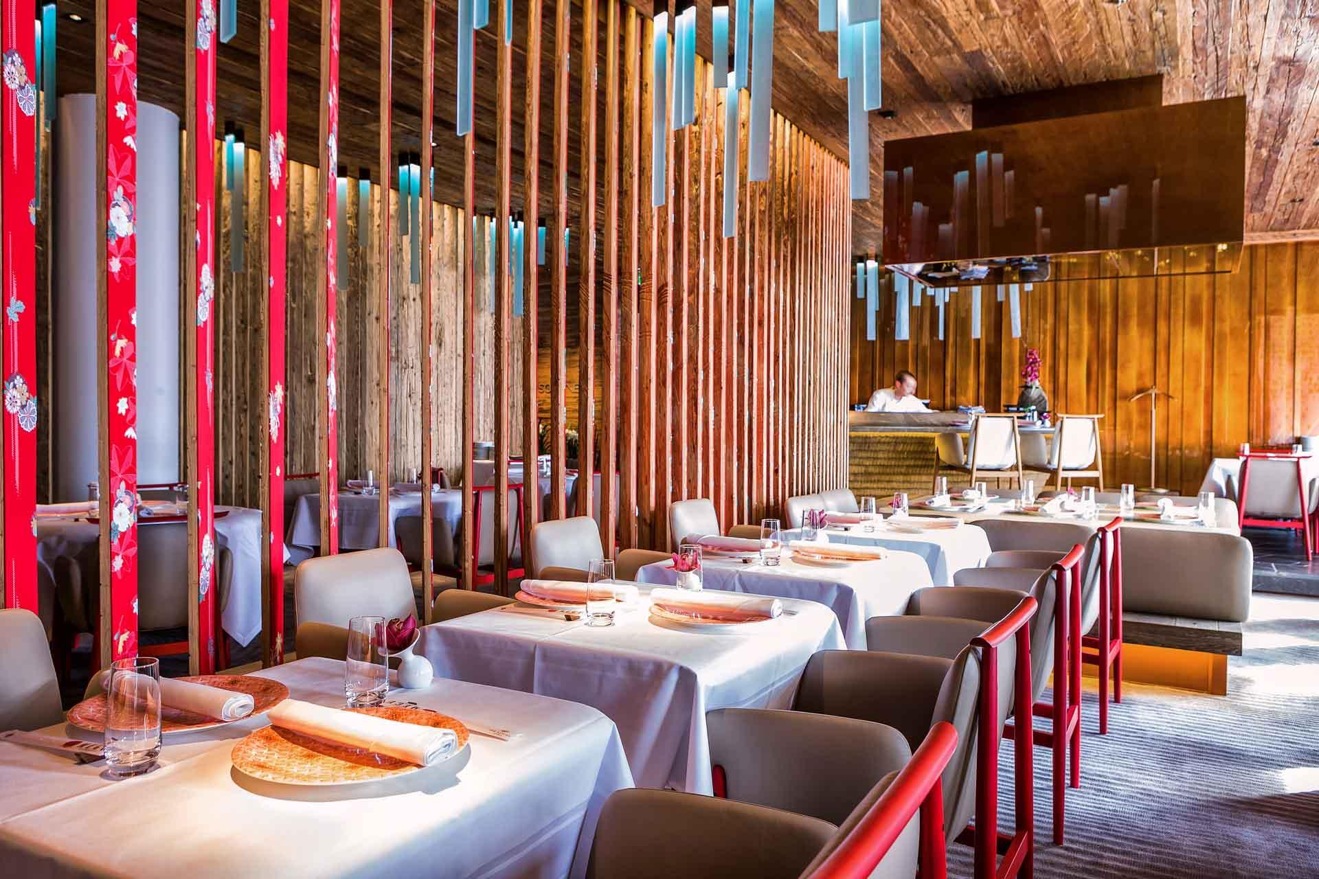 Le restaurant japonais Menu © The Alpina Gstaad