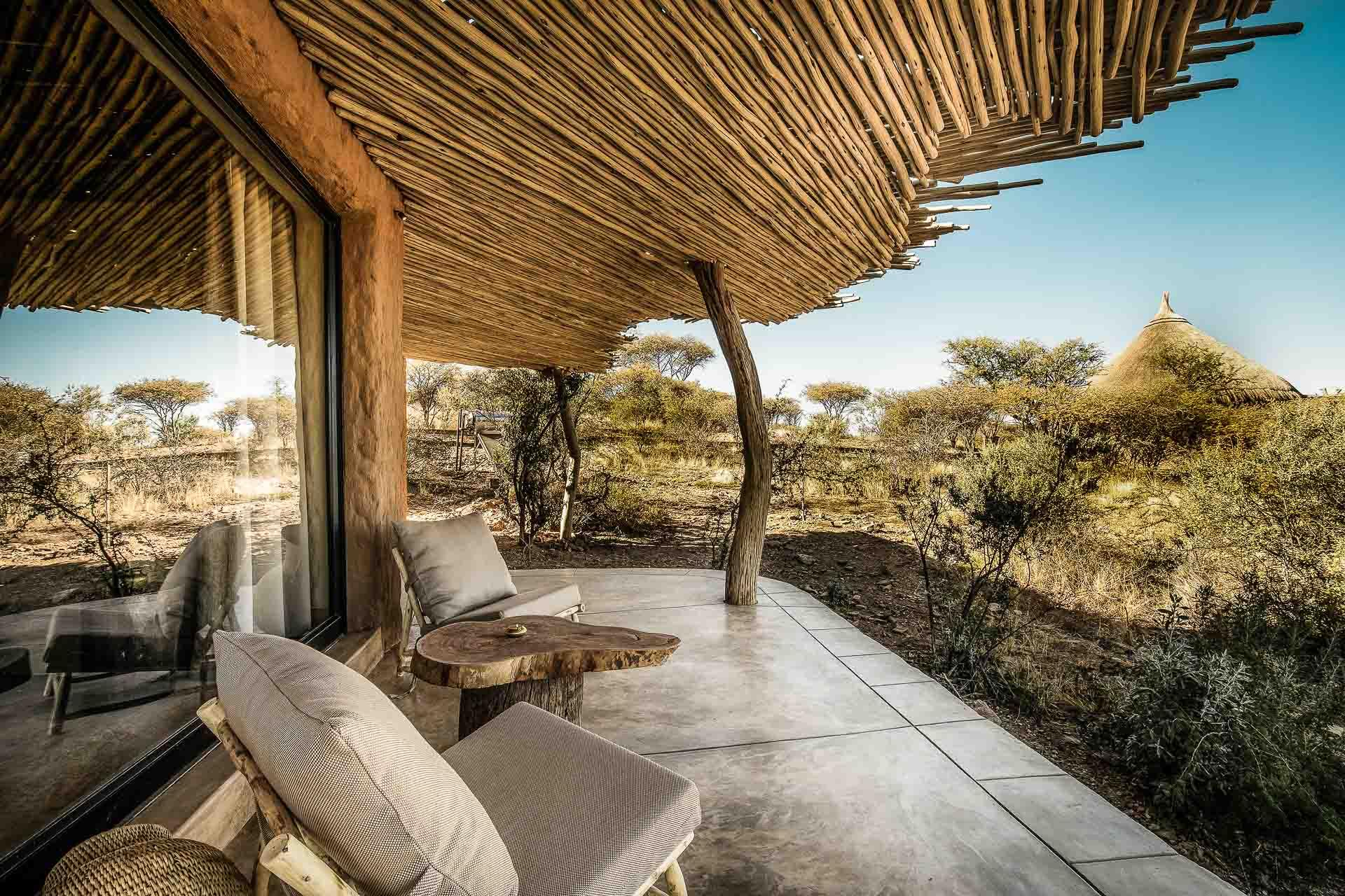 Hutte traditionnelle au Omaanda © Zannier Hotels