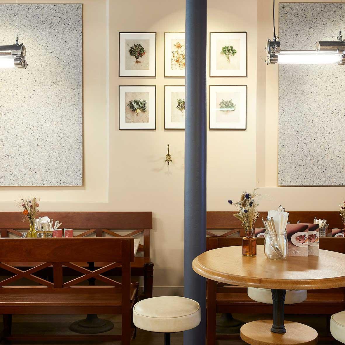 Intérieur du restaurant Sapid © Atelier Mai 98