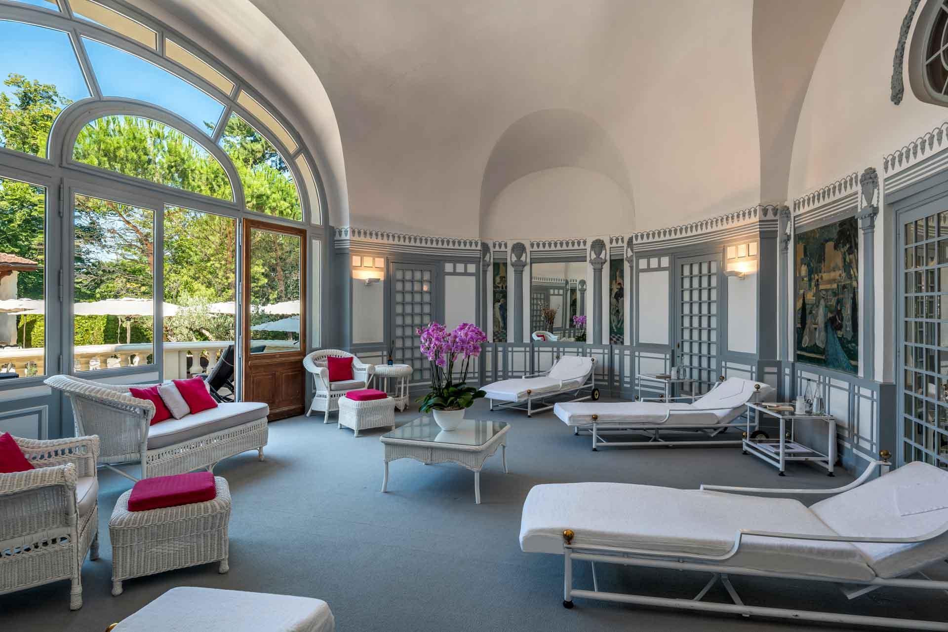 Le Salon Aga Khan du spa au Royal Evian © Pascal Reynaud