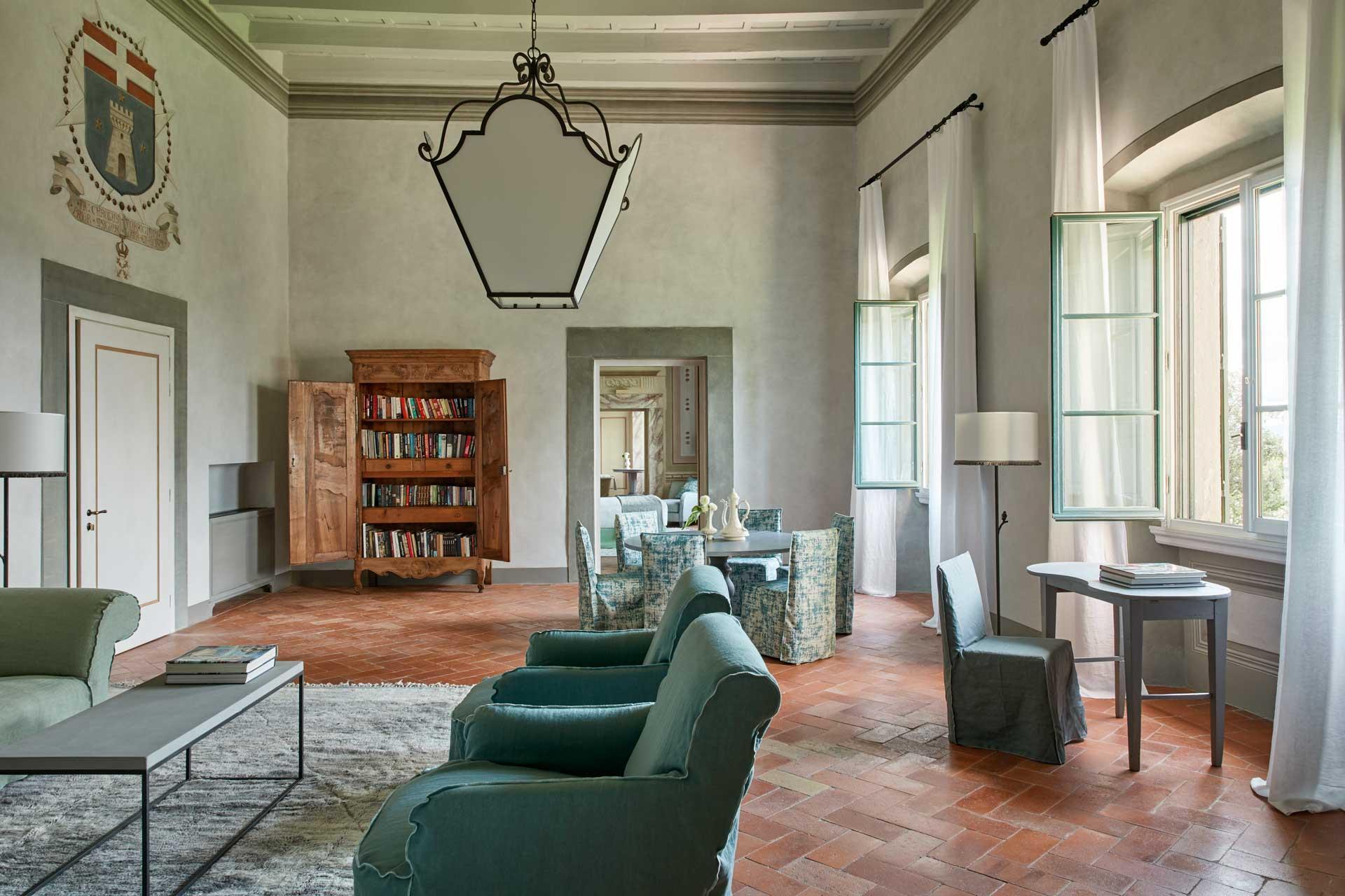 Le salon principal où se déroulaient les réceptions, qui donne sur deux Heritage Suites © Como Hotels & Resorts