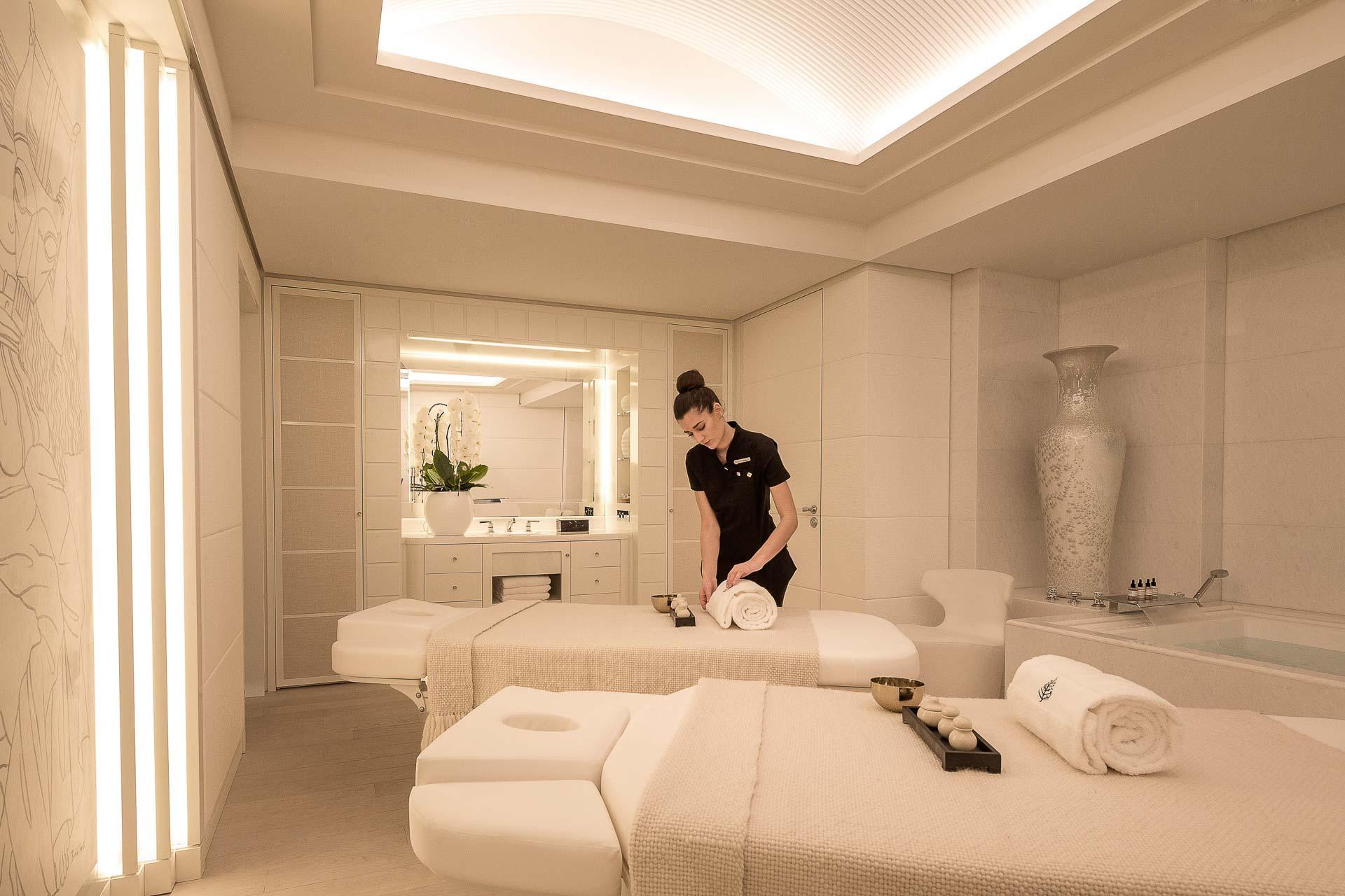 Four Seasons Hotel Megève - Spa - Cabine de soin double © Four Seasons