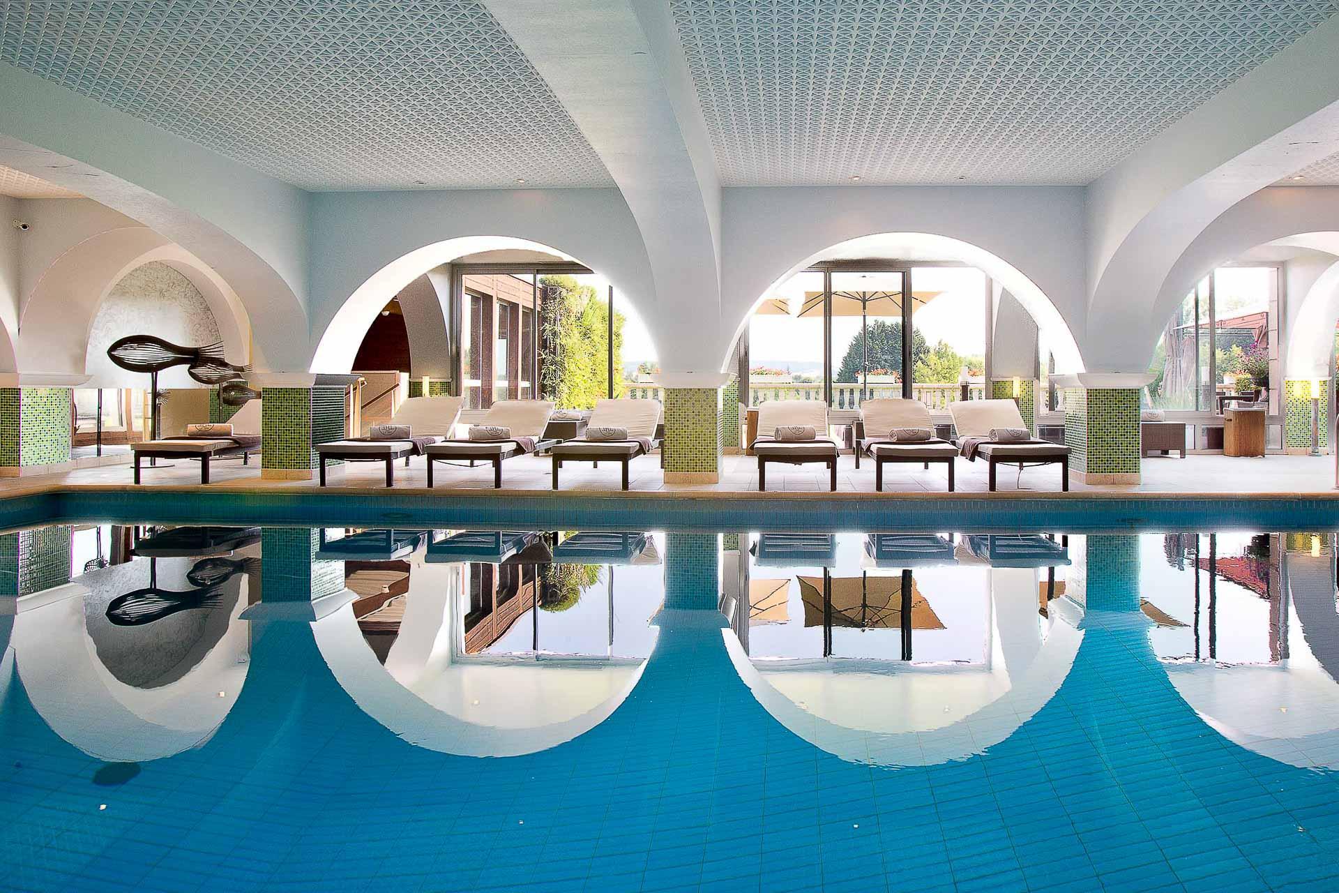 Le spa de l'hôtel, l'un des plus beaux de Bourgogne © Côte Saint-Jacques