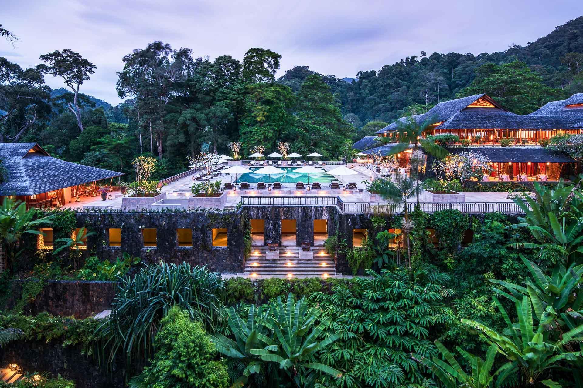 Vue du cœur du resort, en pleine jungle © DR