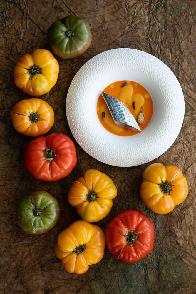 Les tomates de Mauro Calogreco au Mirazur © Matteo Carassale