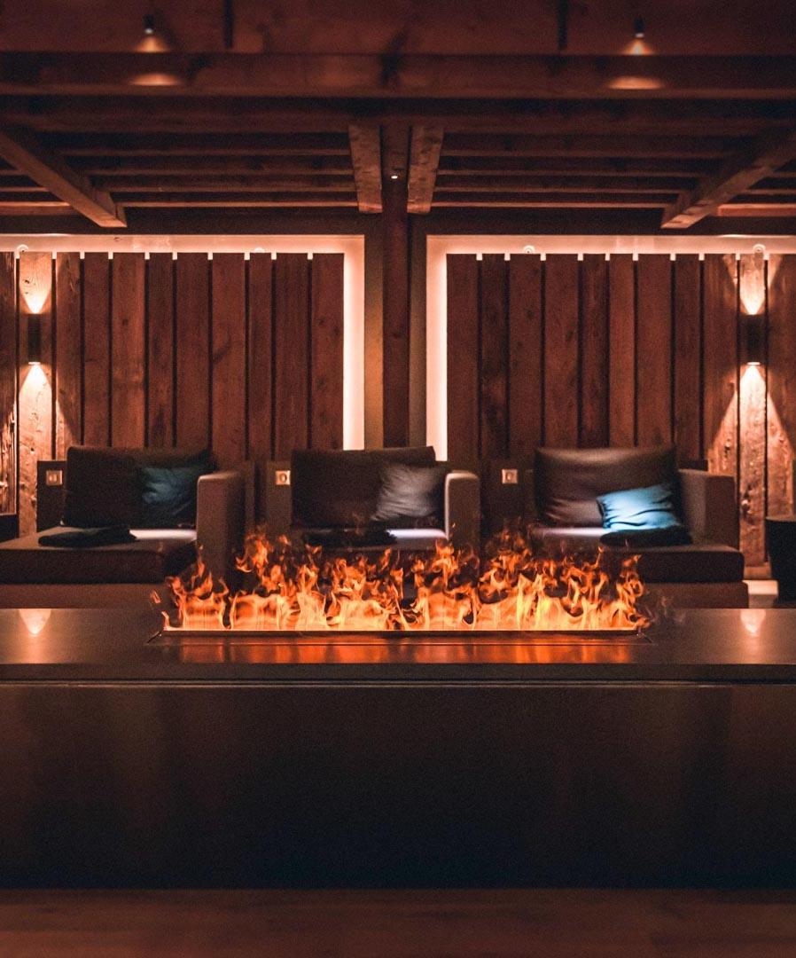 La salle de repos ultra cosy du spa Yonaguni © Nis&For
