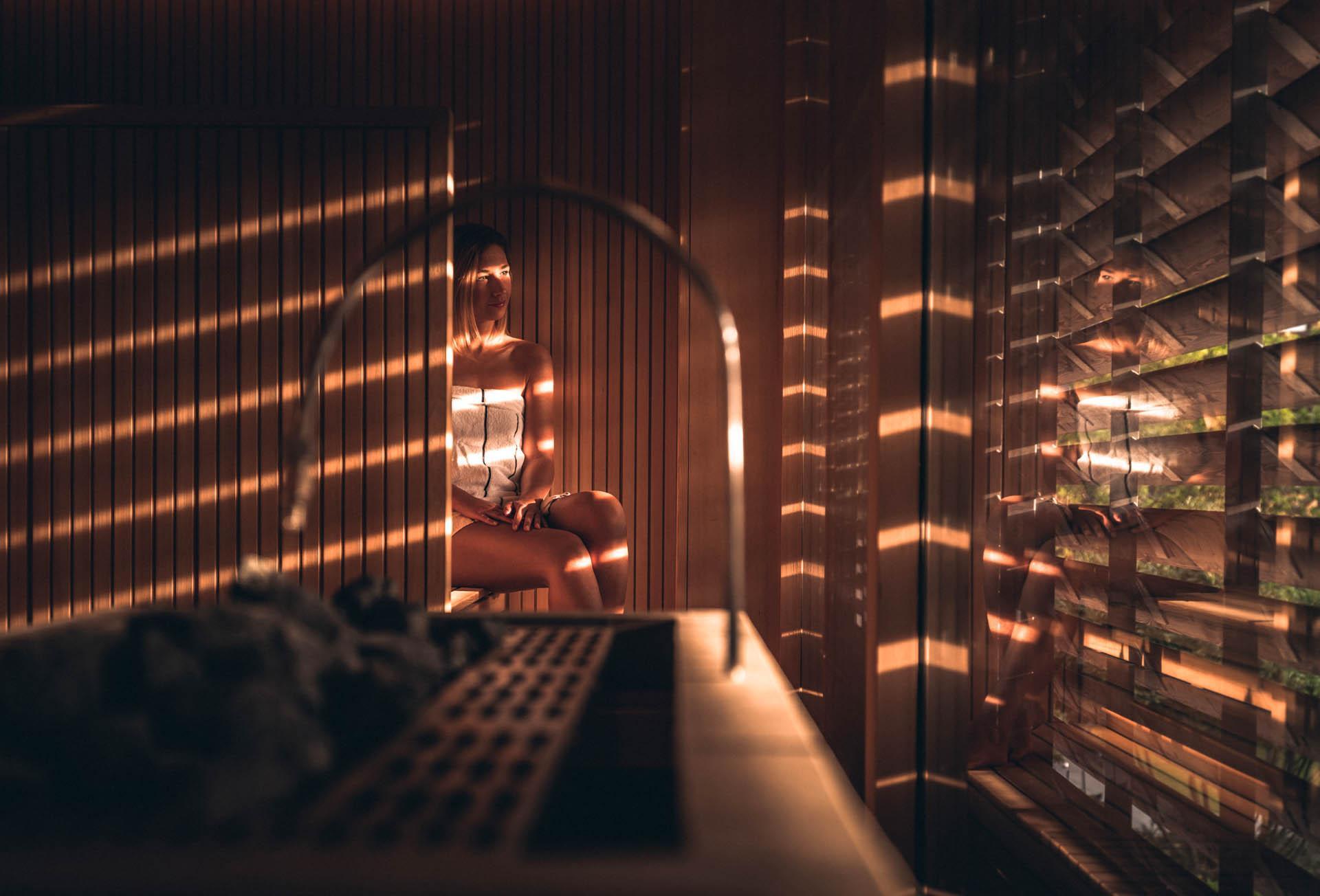 Sauna au Yonaguni spa © Nis&For