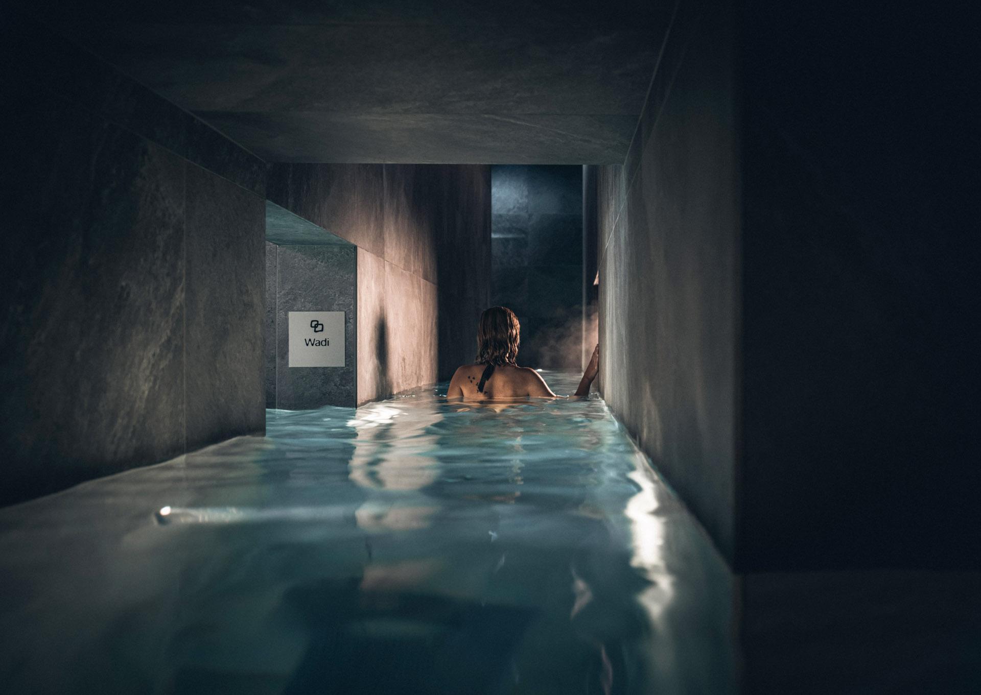 Les couloirs aquatiques desservent des salles aux atmosphères toutes différentes © DR
