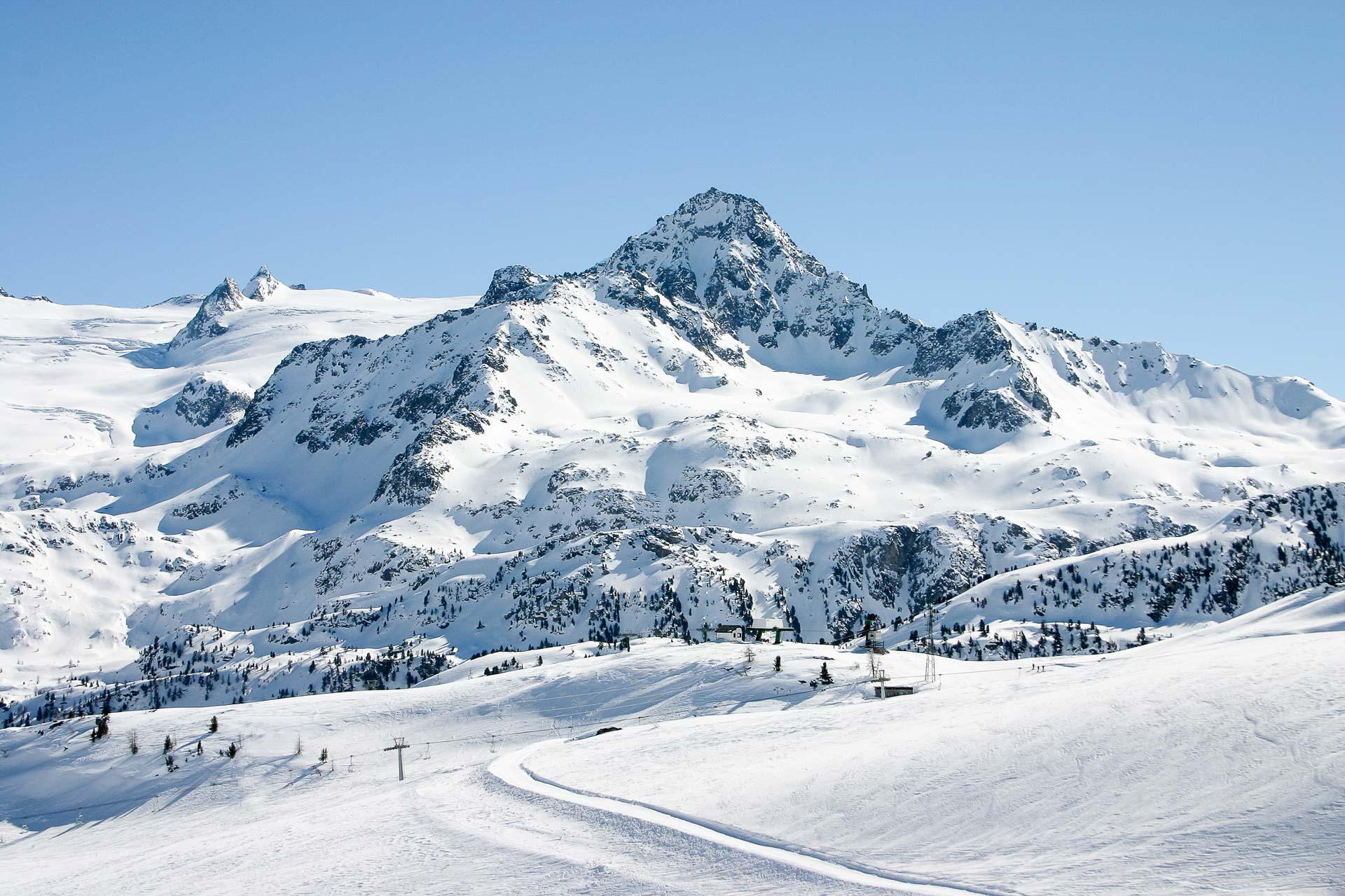 Le domaine skiable de La Thuile. © Vallée d'Aoste Tourisme