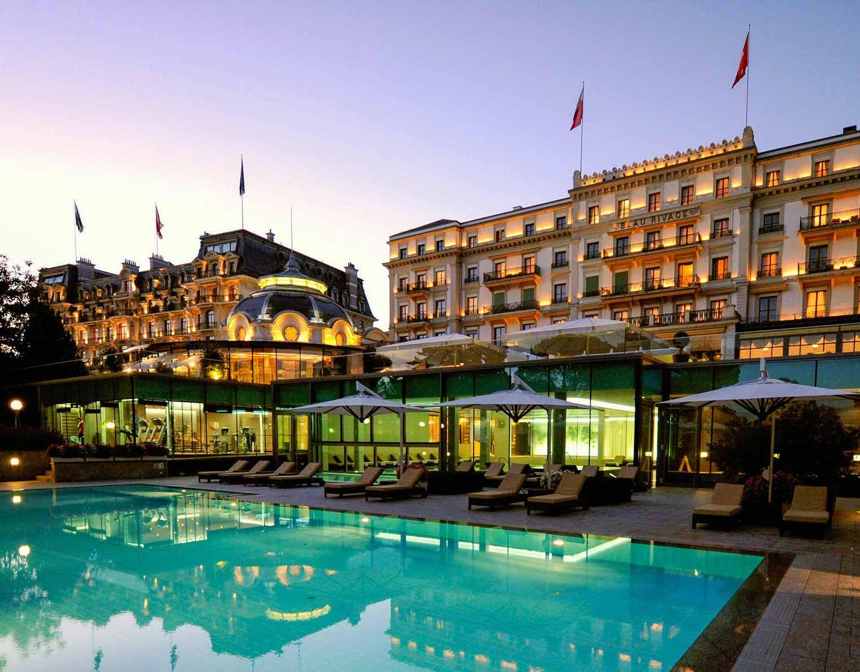 Le majestueux extérieur de l'Hôtel Beau-Rivage Palace à Lausanne © DR