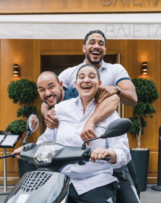 Julia Sedefdjian et ses associés, Sébastien Jean-Joseph et Grégory Anelka © DR