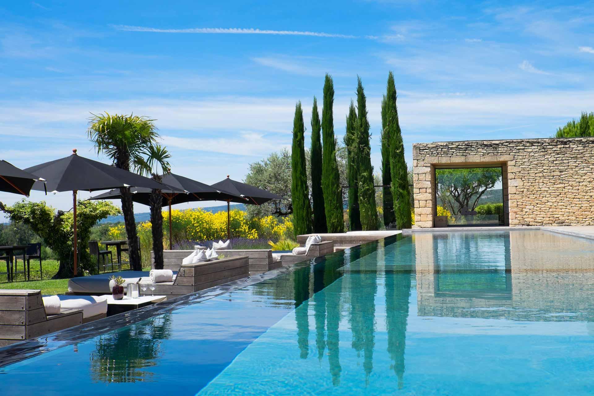 La piscine du Domaine des Andéols © DR