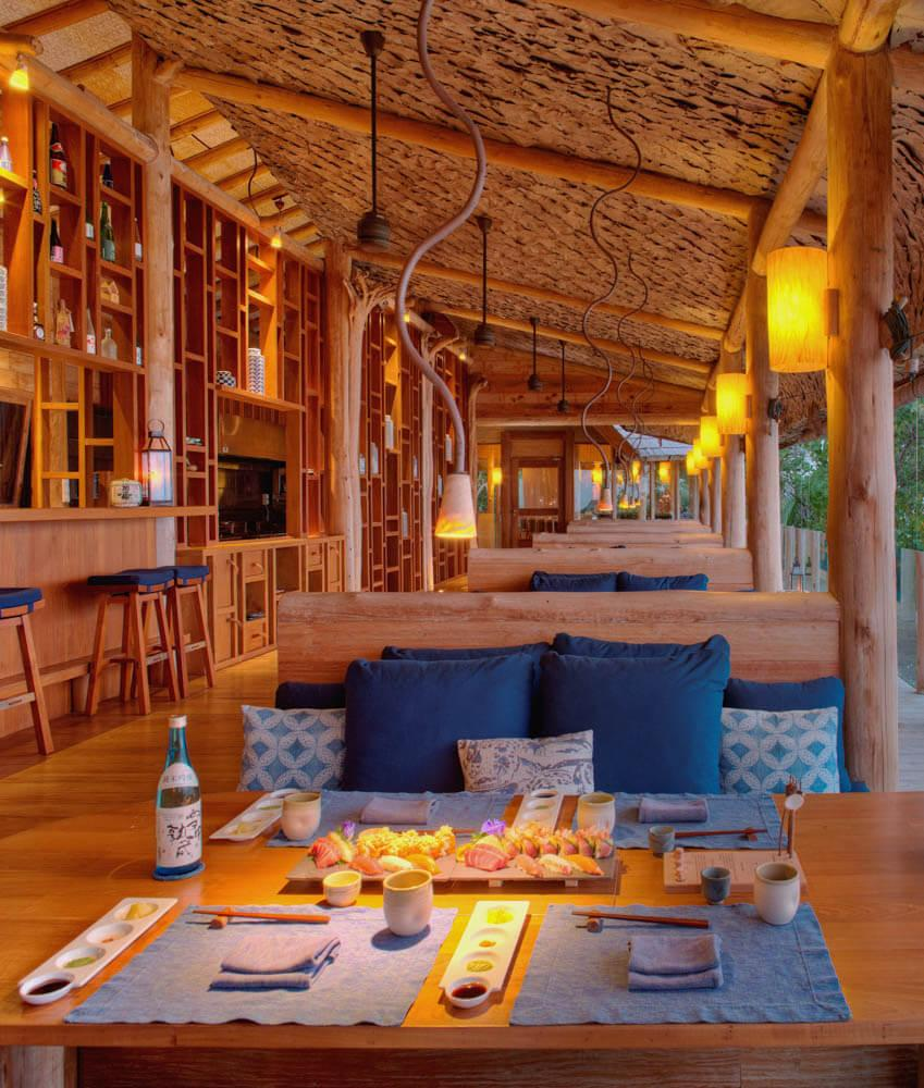 Restaurant By The Sea au Gili Lankanfushi © DR