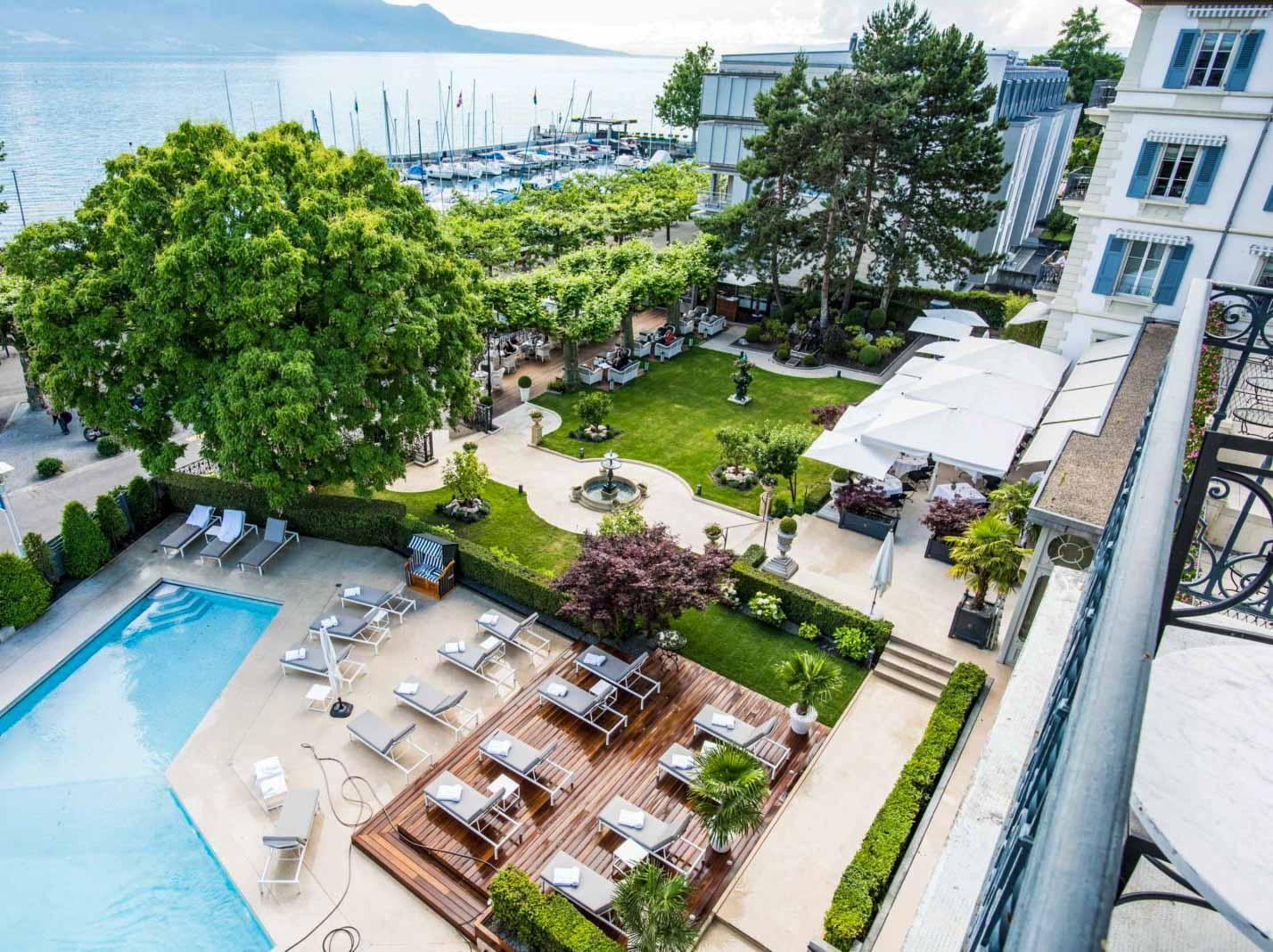 La piscine du Grand Hotel du Lac © Grand Hotel du Lac