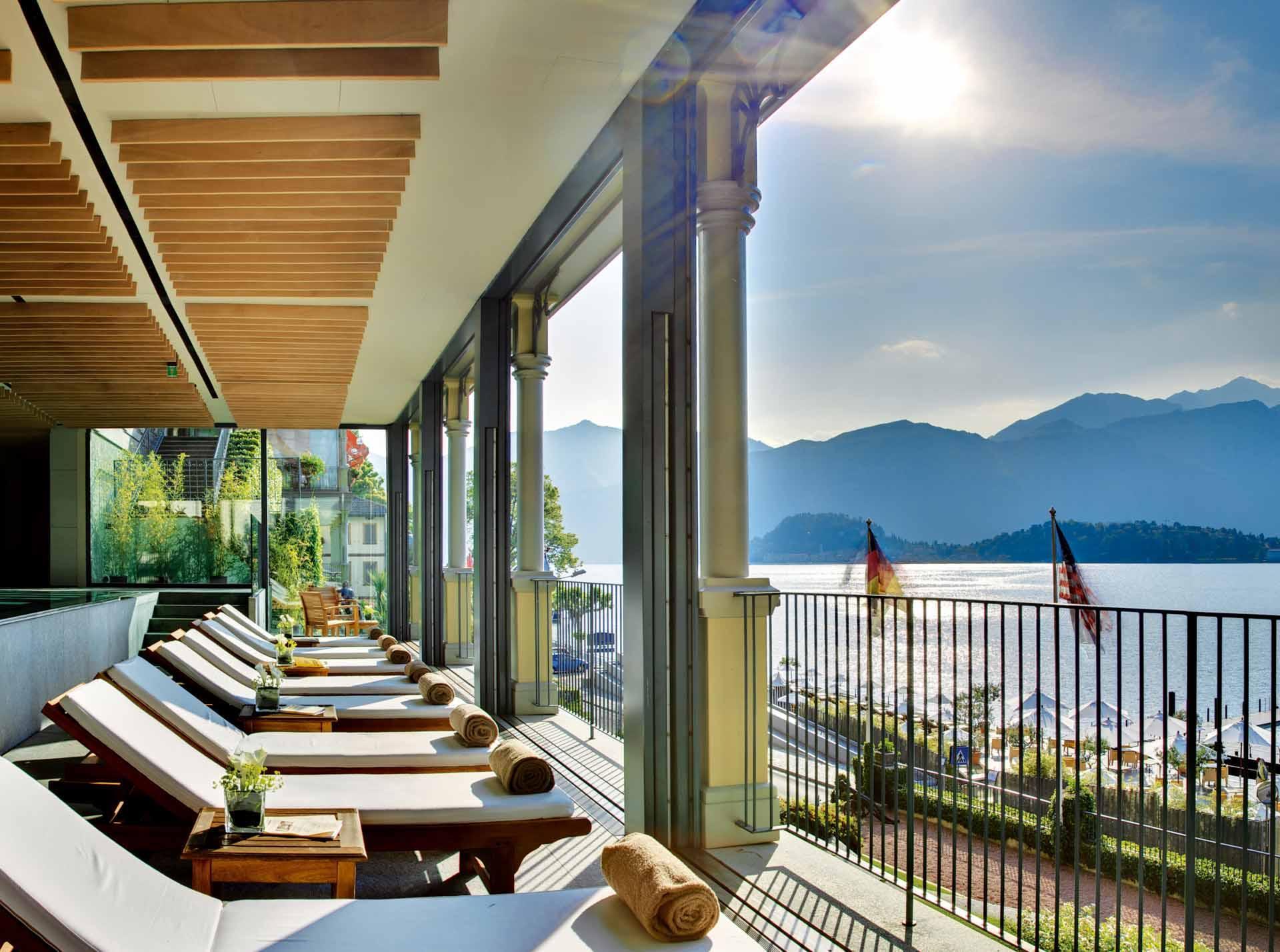 Lounge panoramique du T Spa © Grand Hotel Tremezzo