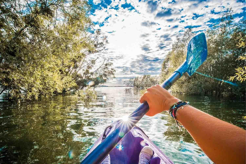 Kayak en forêt immergées © Le Bonheur des Gens