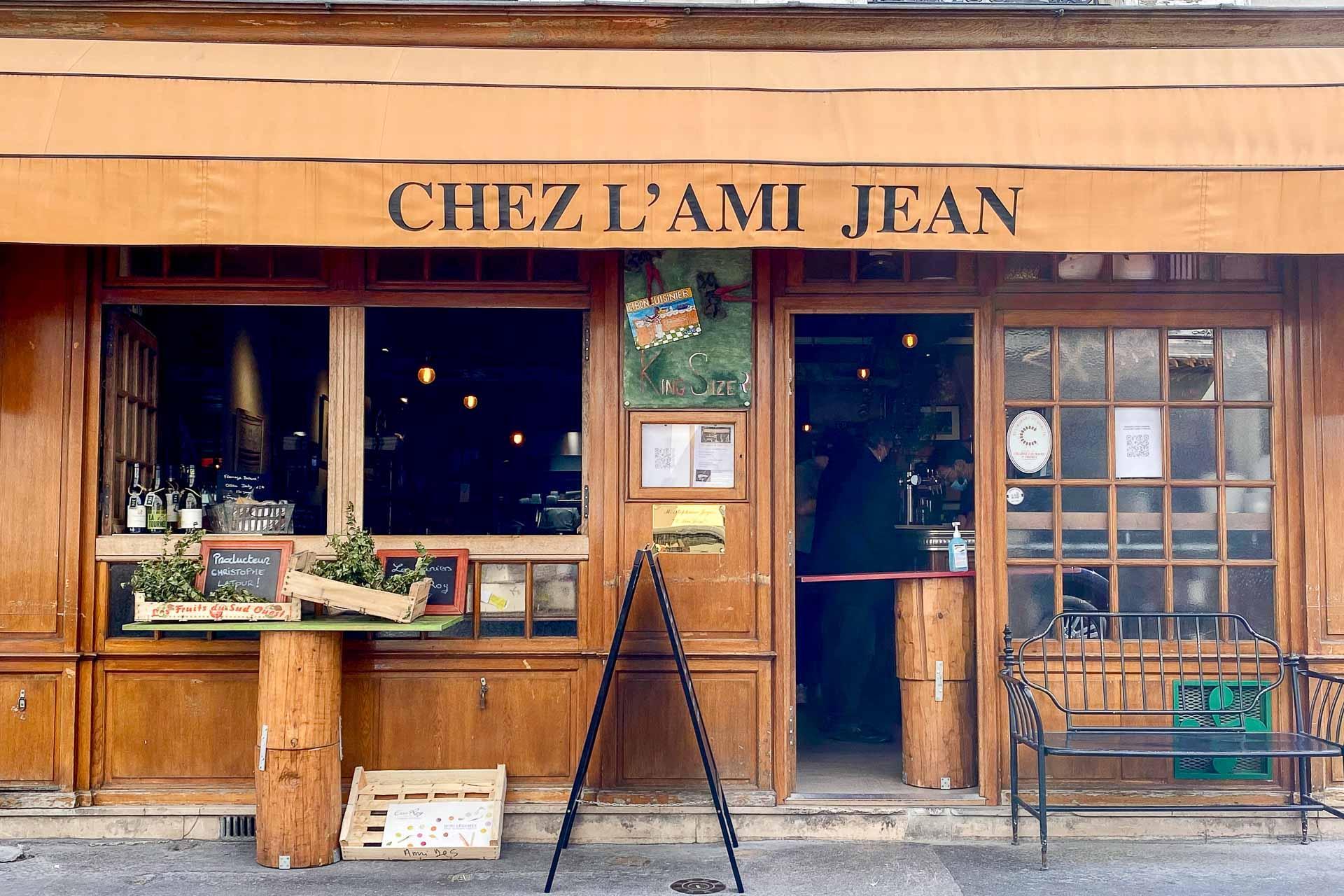 La façade de l'Ami Jean dans le 7e arrondissement © EL / YONDER.fr