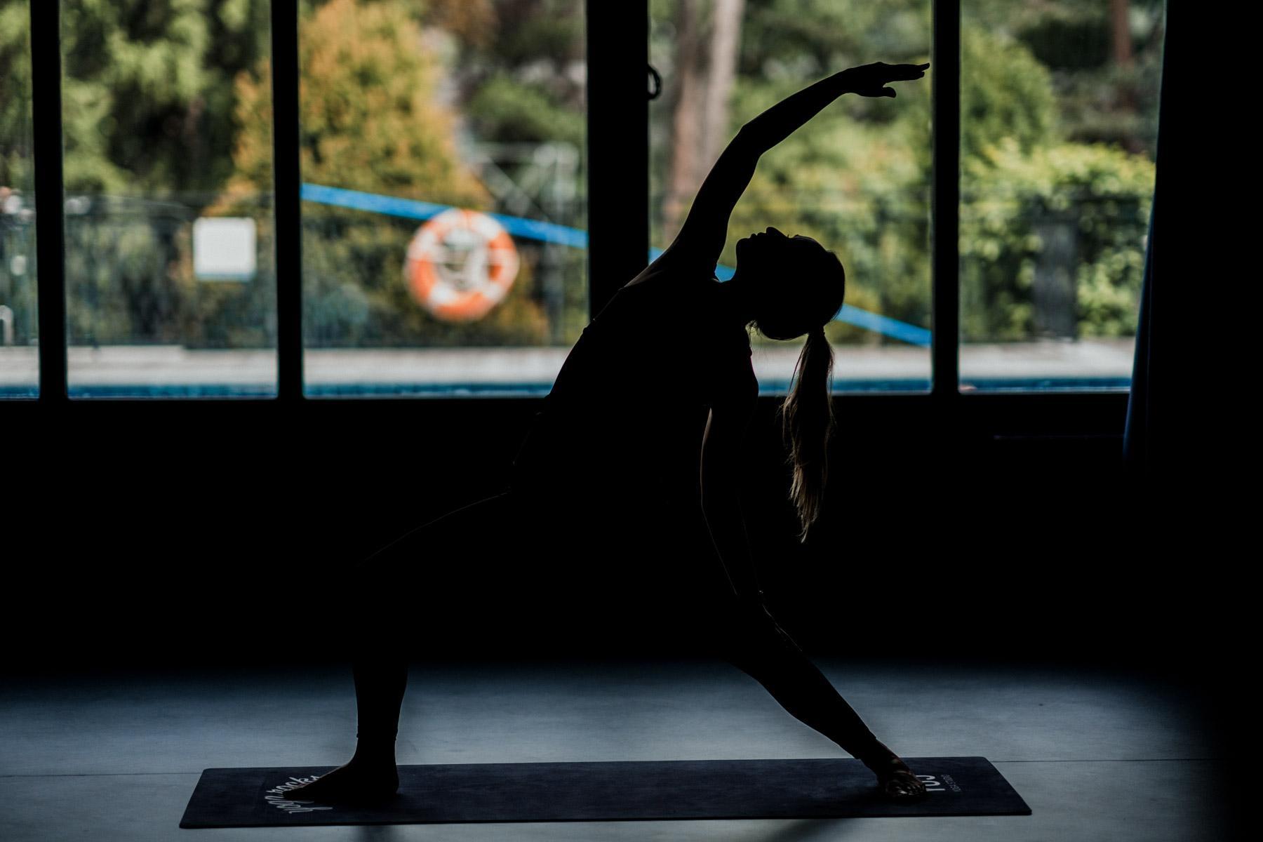 Studio de yoga à la Folie Douce Chamonix © DR