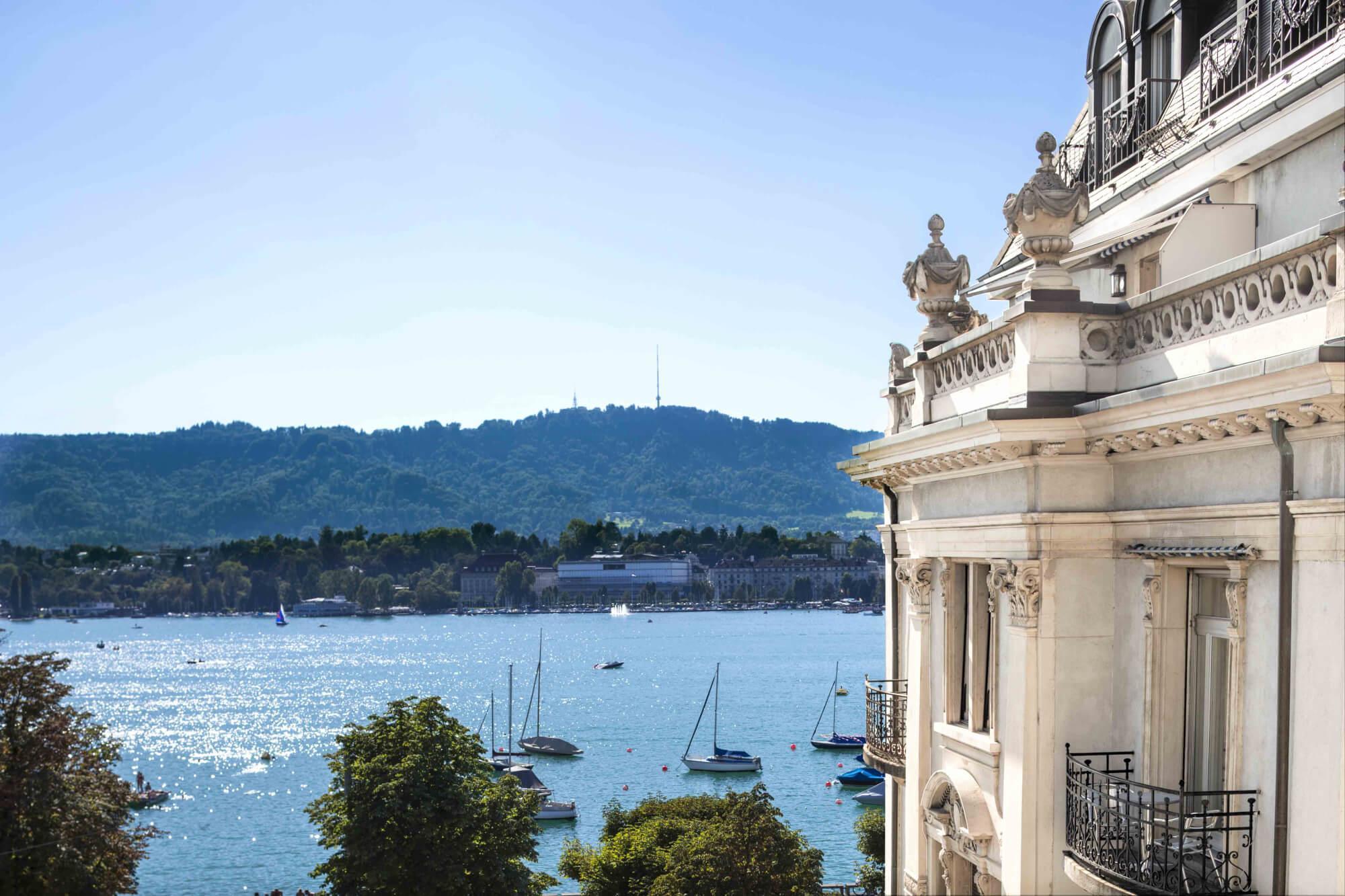 Lac de Zurich depuis La Réserve Eden au Lac © DR