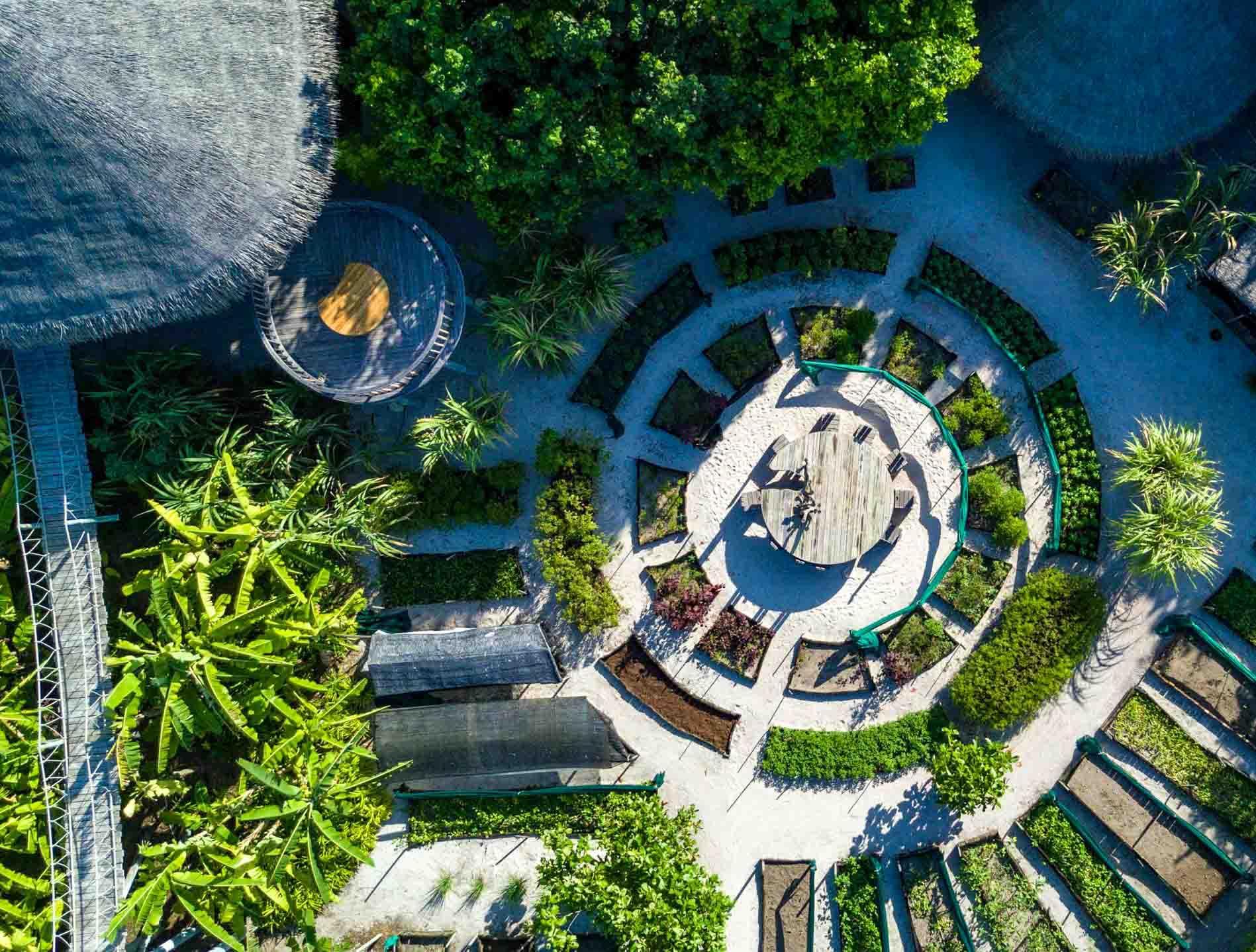 Jardin biologique au Six Senses Laamu © DR