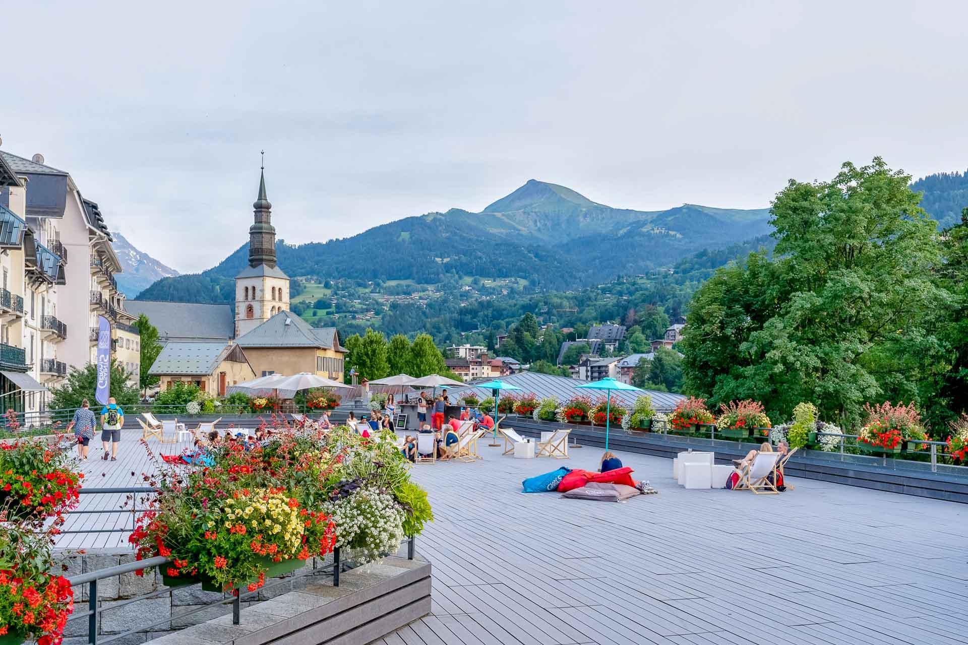 Le village de Saint-Gervais © OT Saint-Gervais - Boris Molinier