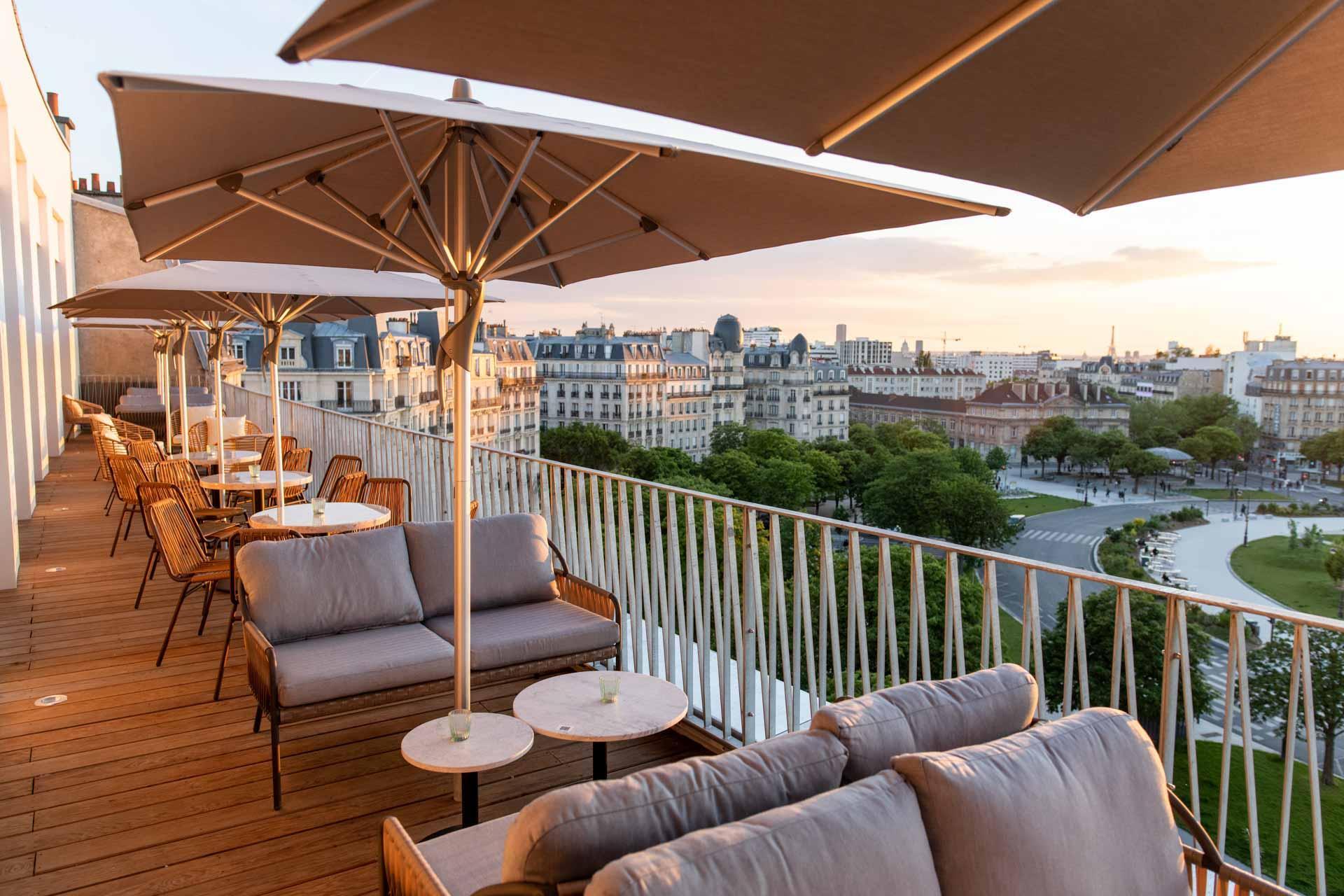 La terrasse des Piaules au 6e étage © DR