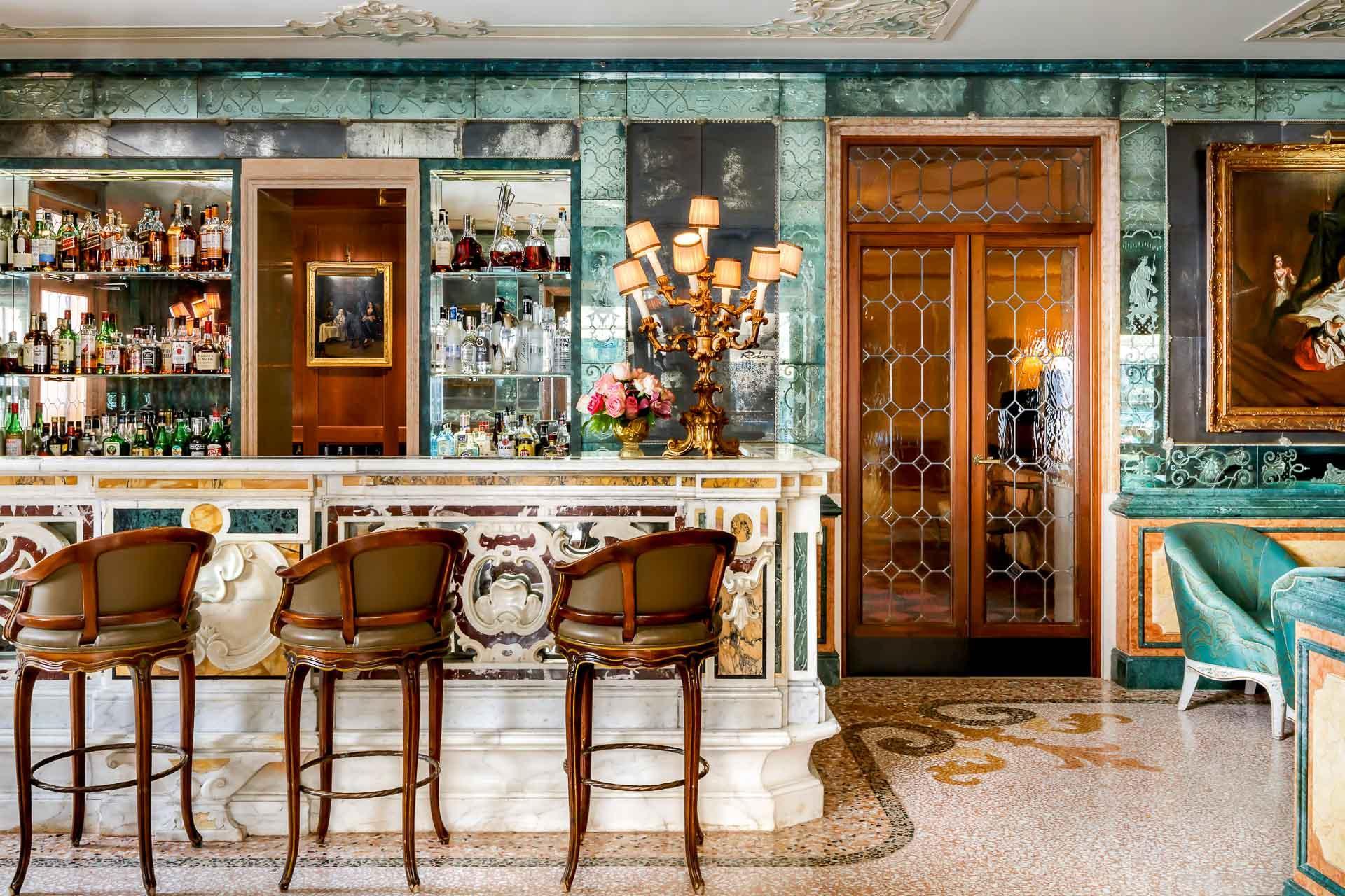Le Bar Longhi de l'hôtel Gritti. © Brandon Barré Photography