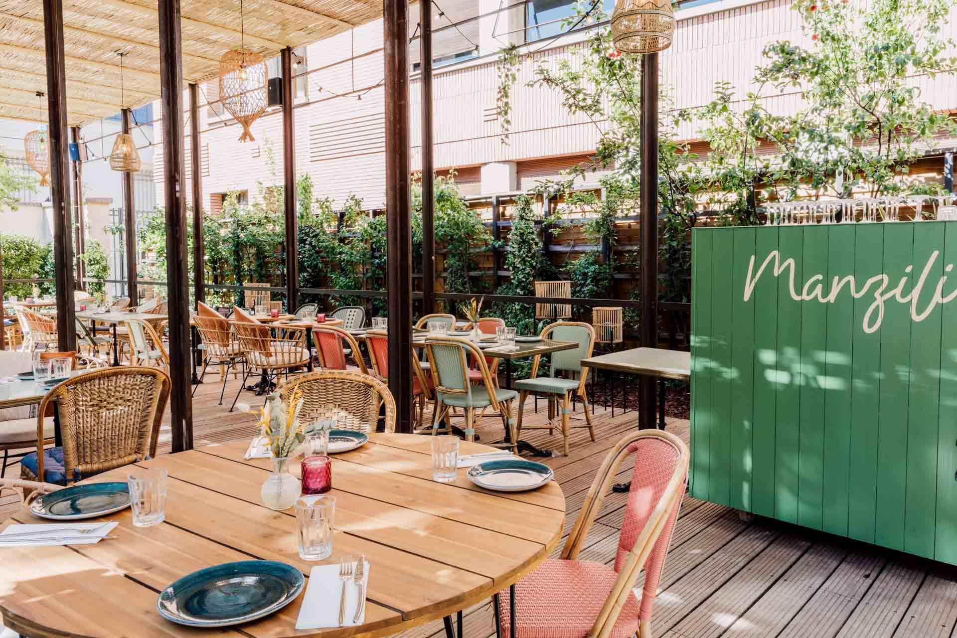 La terrasse en bordure du Jardin des Plantes © Manzili