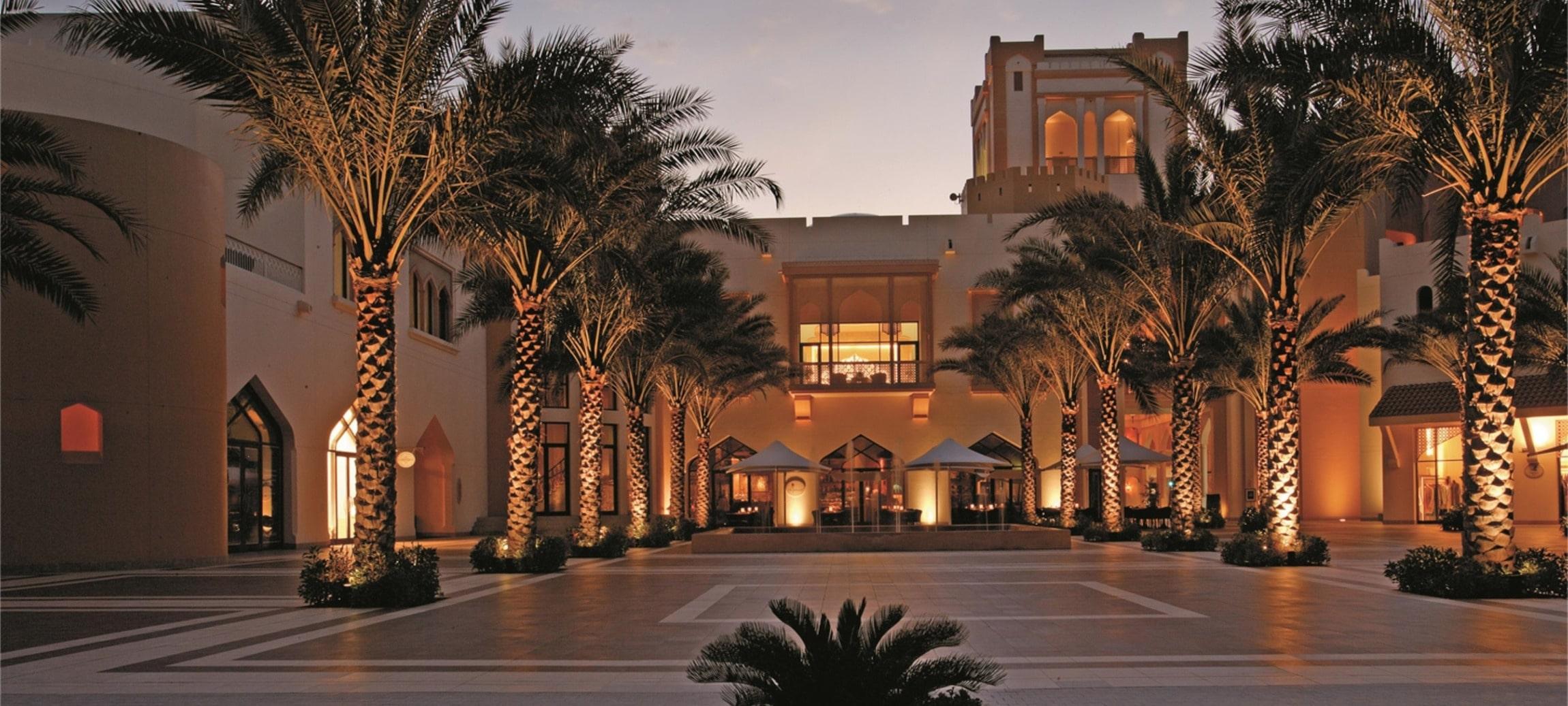 Entrée de l'hôtel Barr Al Jissah.
