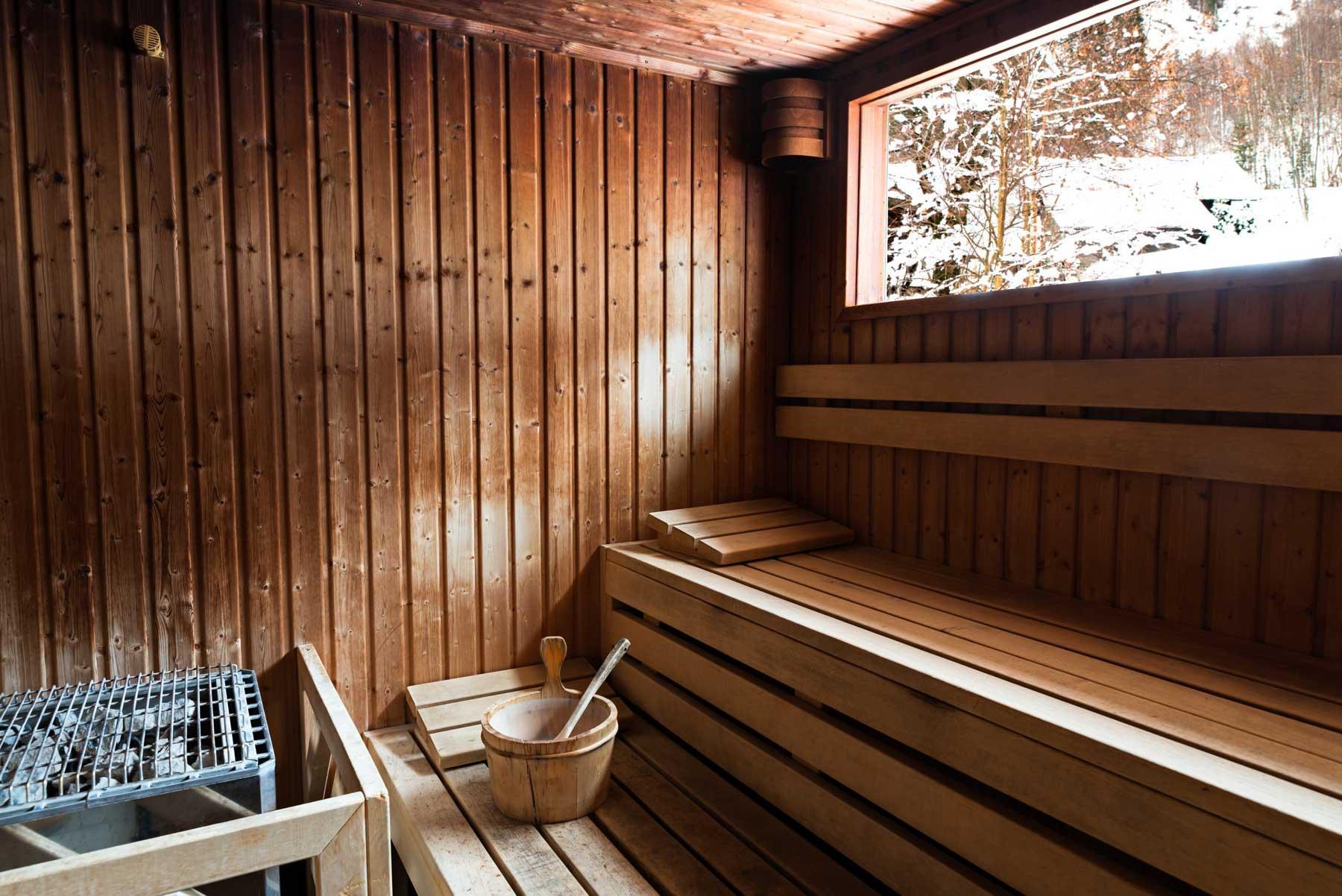 Sauna au spa Deep Nature du Refuge des Aiglons © Yoan Chevojon