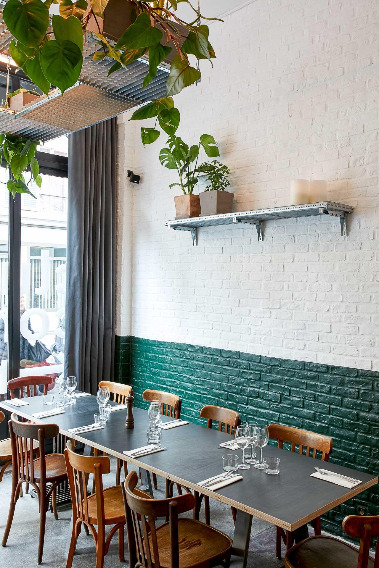 Décor du restaurant du Badaboum © Victoire Letarnec