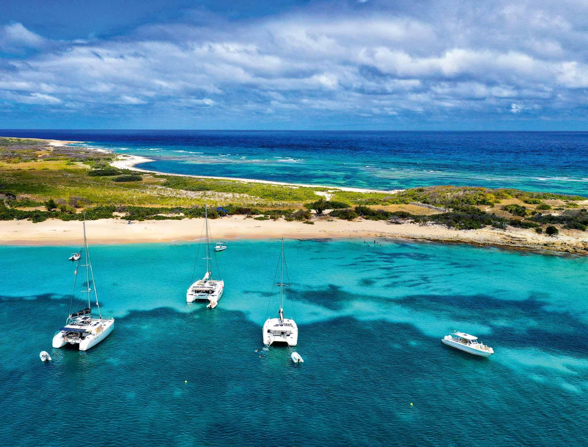 L'île Tintamarre au large de Saint-Martin © DR