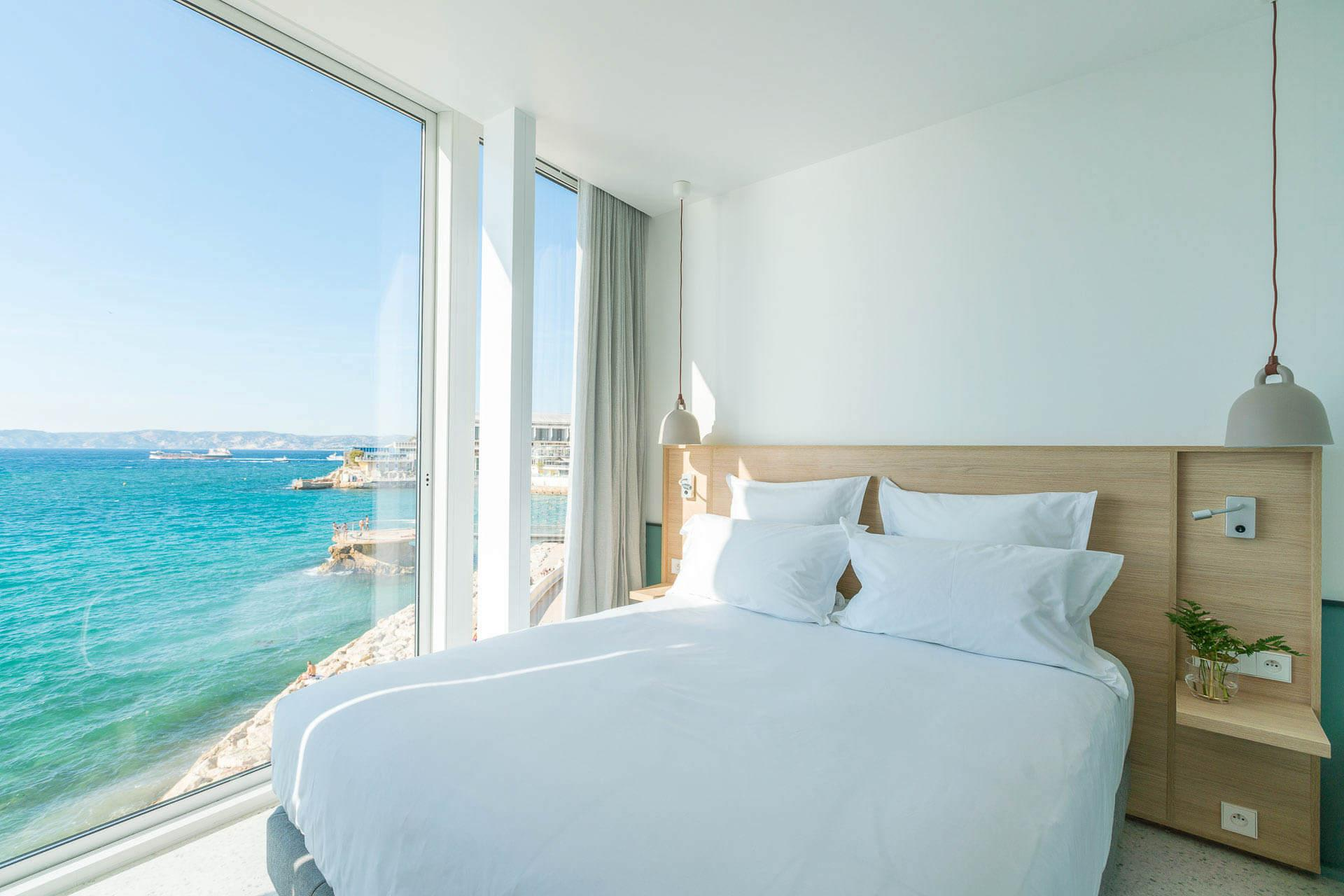 Vue sur mer depuis toutes les chambres des Bords de Mer à Marseille © DR