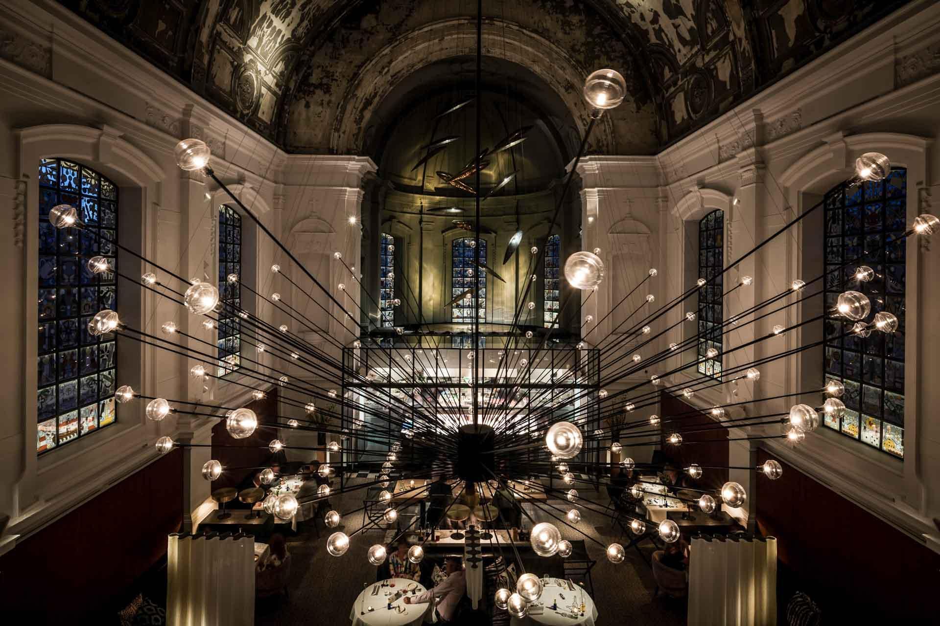 La salle du restaurant The Jane © Pieter D'Hoop