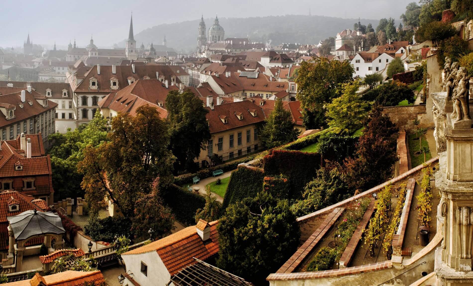 Le jardin en pente de Velka Palffyovska © Prague City Tourisma