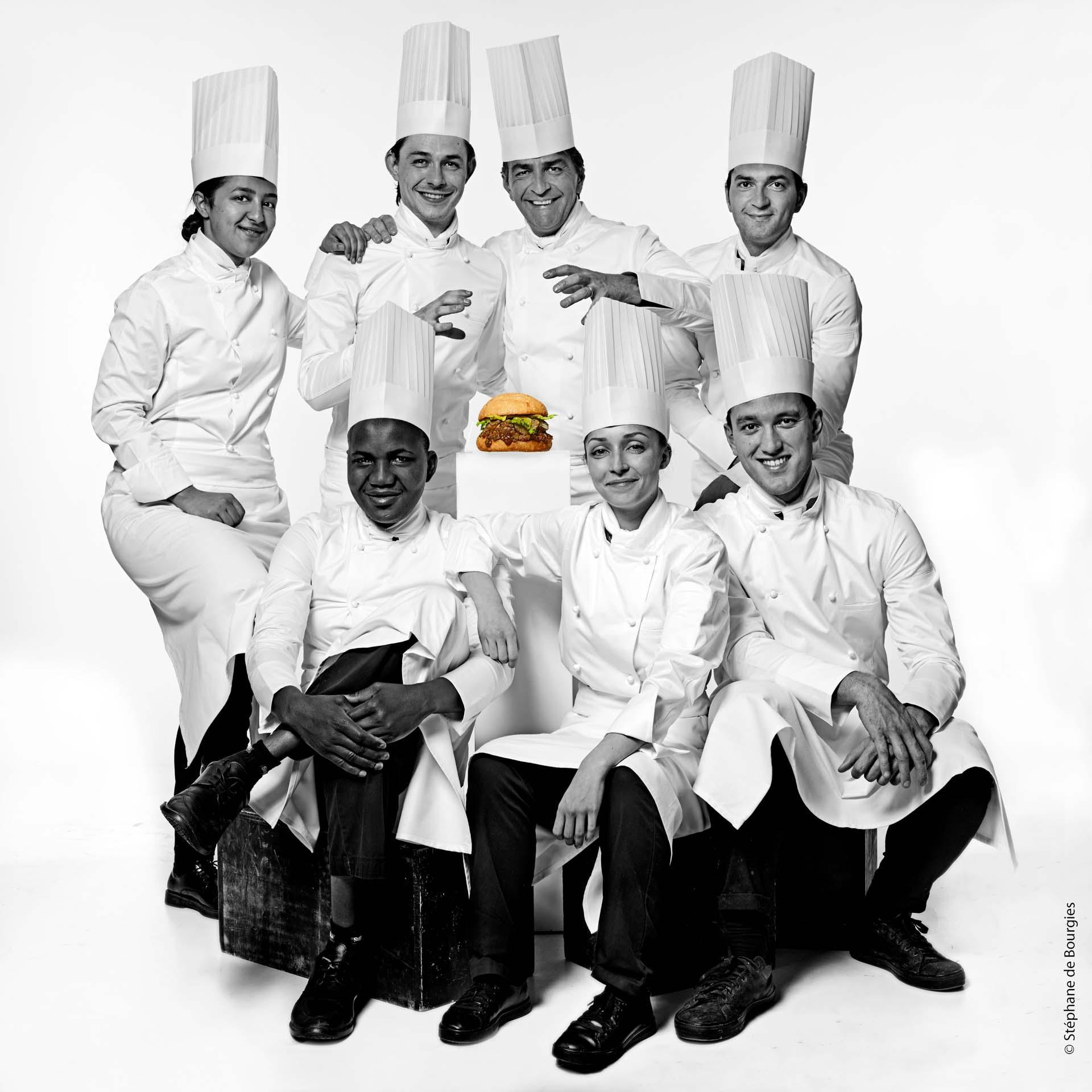L'équipe de Burger Père & Fils par Yannick Alléno © DR