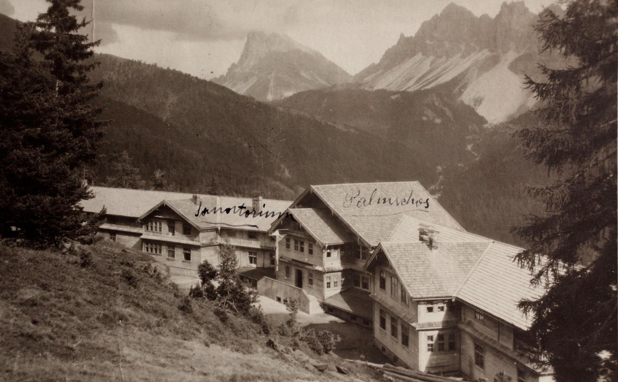 L'ancien sanatorium de Palmschoss au début du 20ème siècle. © Forestis