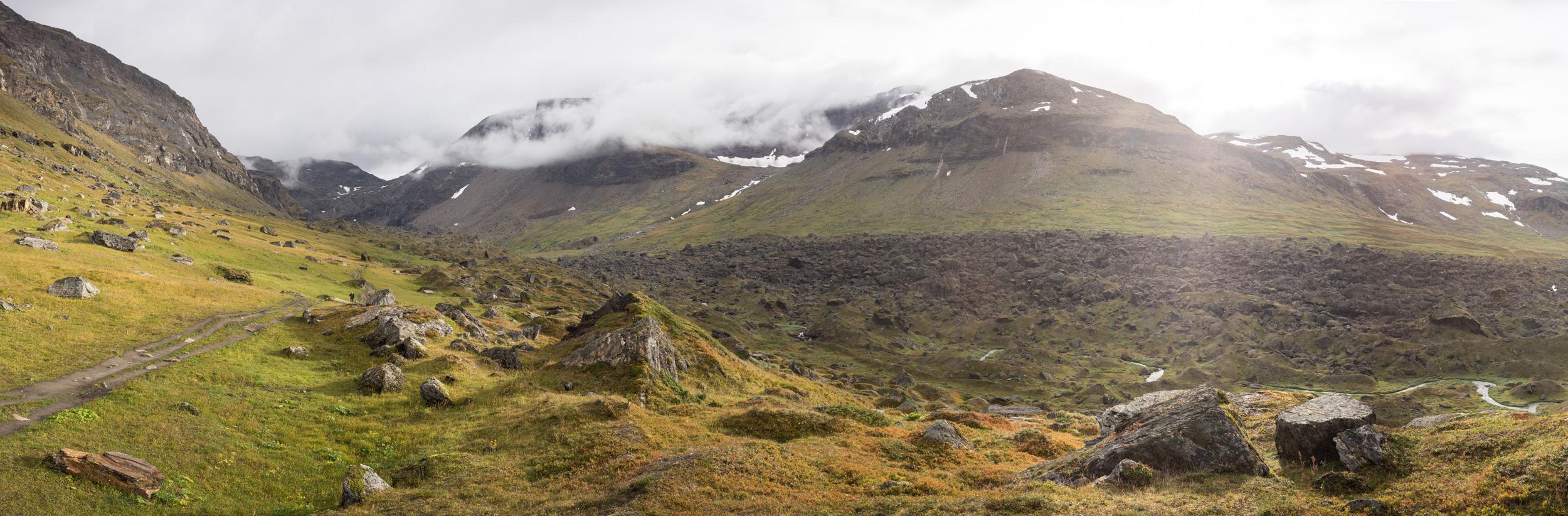 La Kärkevagge ou «Vallée des pierres».