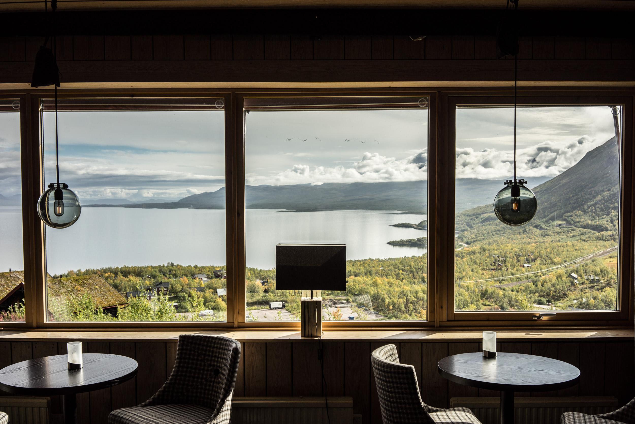 La vue depuis l'hôtel Fjället à Björkliden est l'une des plus belles des environs.